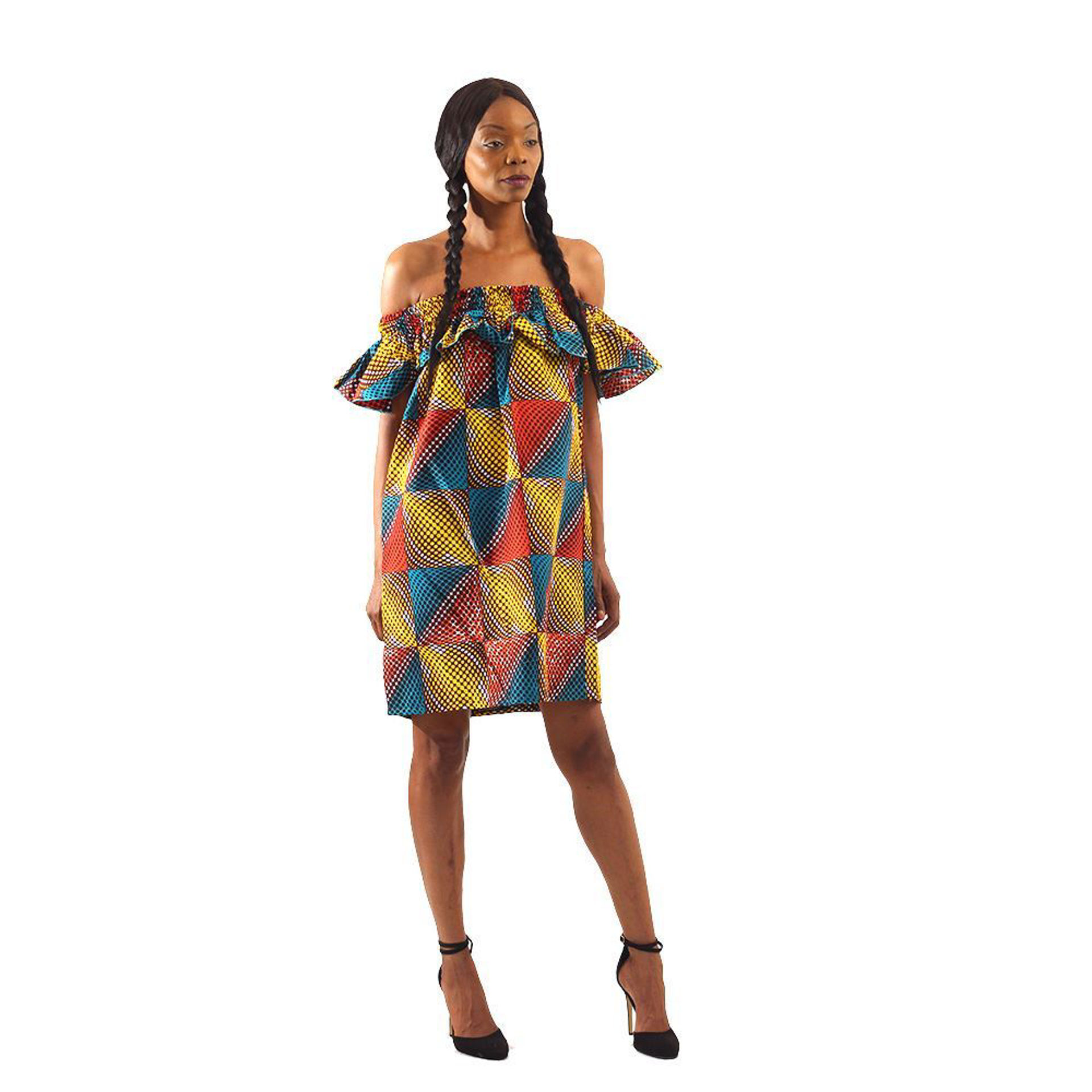 Picture of African Gradient Print Short Dress