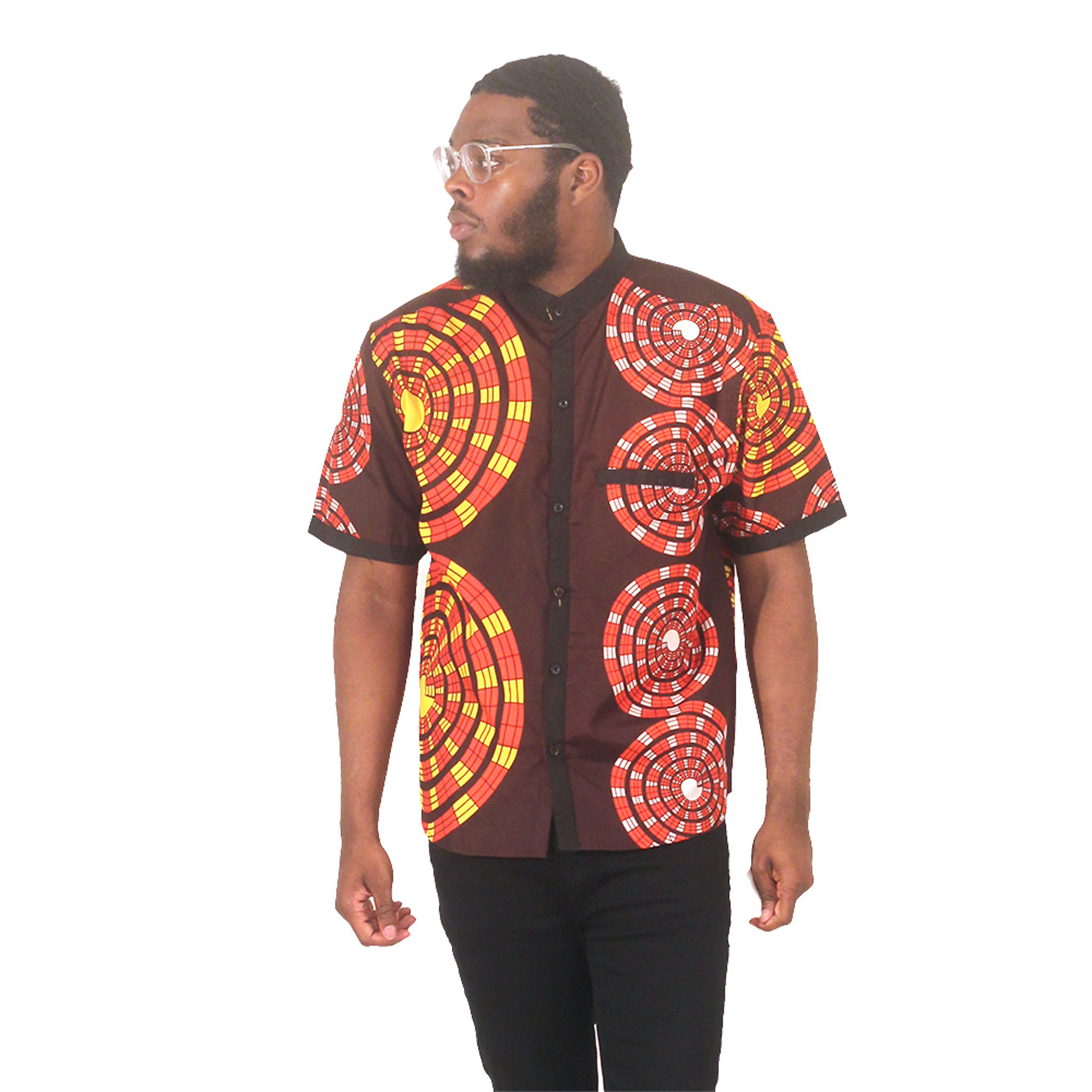 Picture of African Print Button-Down Shirt