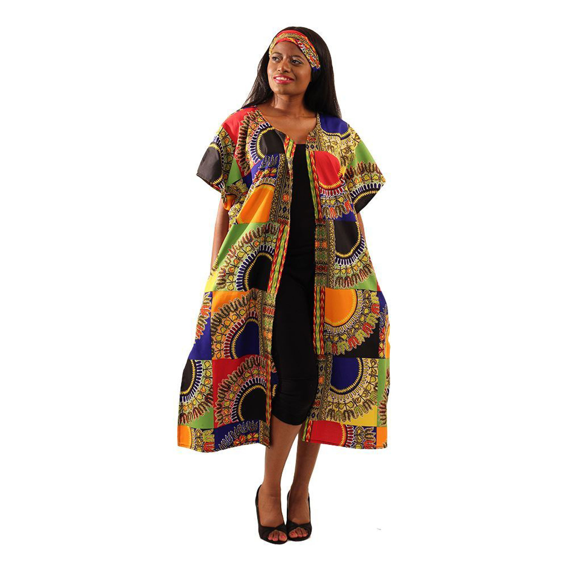 Picture of Trad Patch Print Open Kaftan