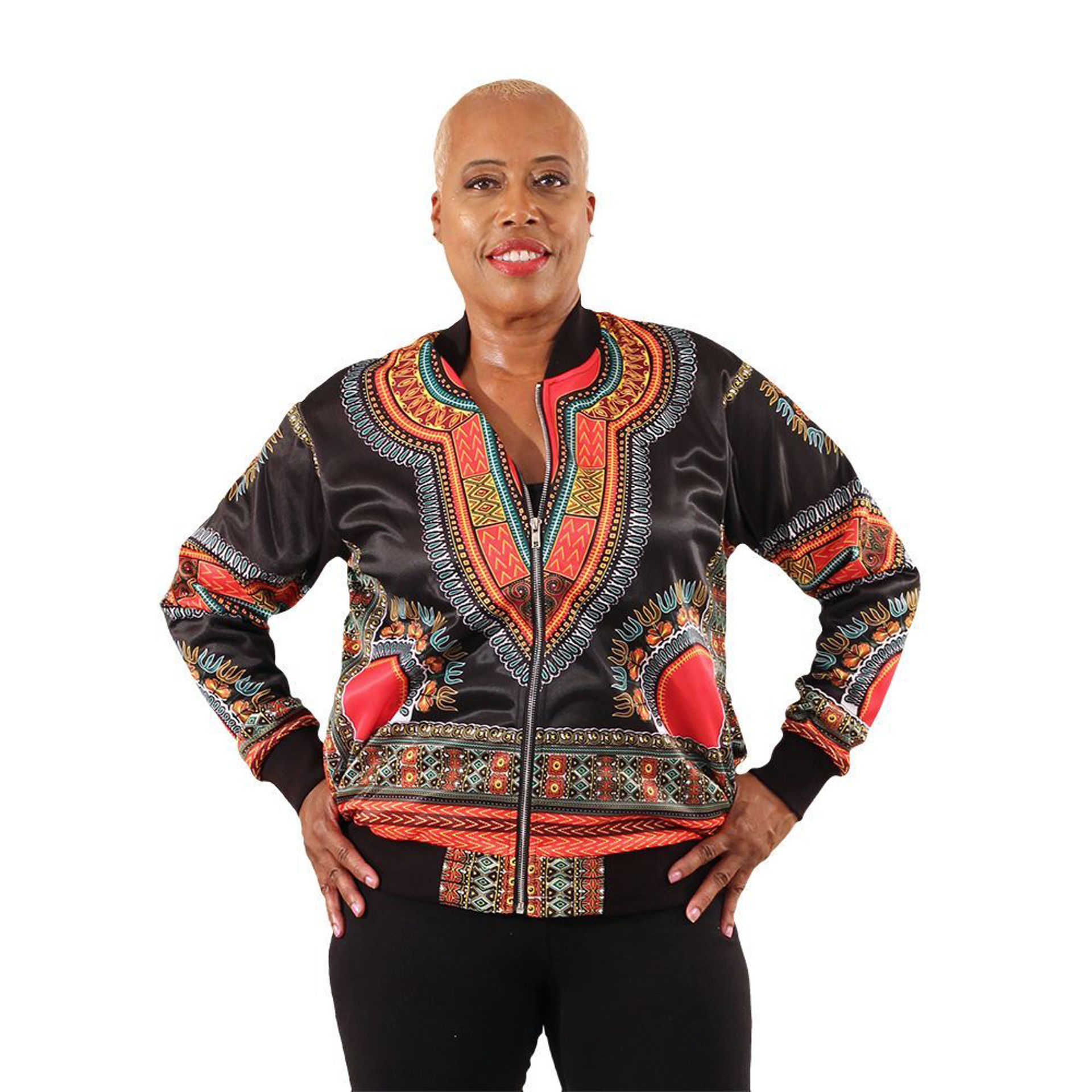 Picture of Black Trad Print Trinda Jacket