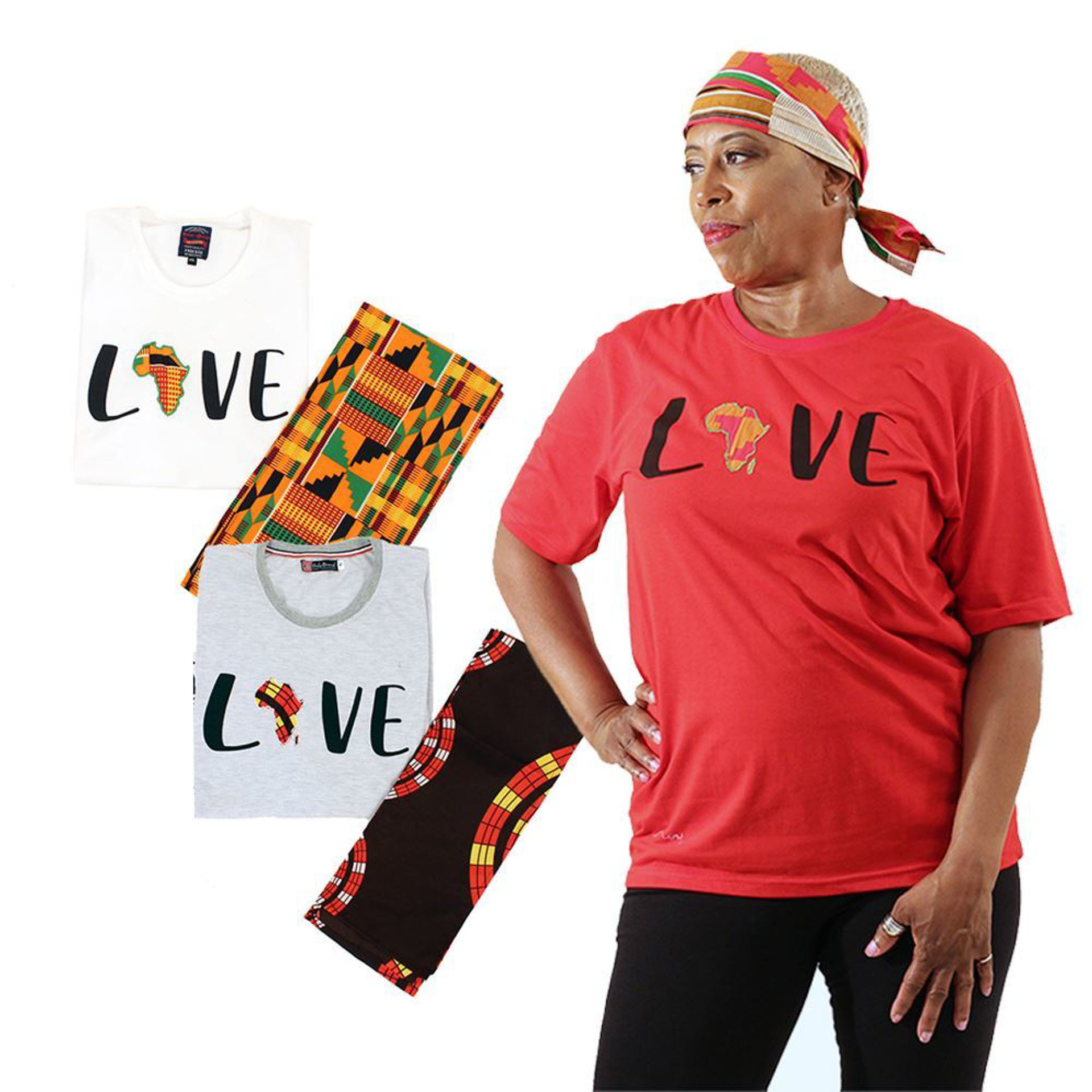 Picture of Love Africa T-Shirt & Headwrap