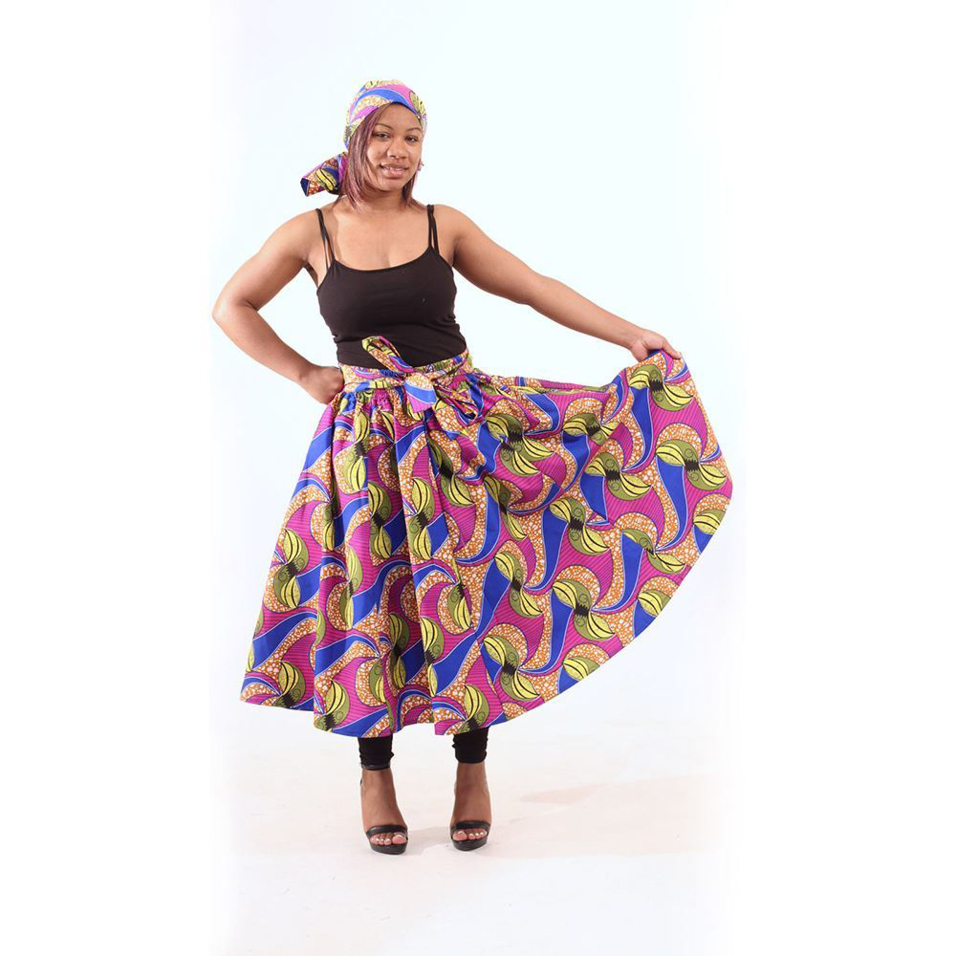 Picture of Botanical Print Skirt