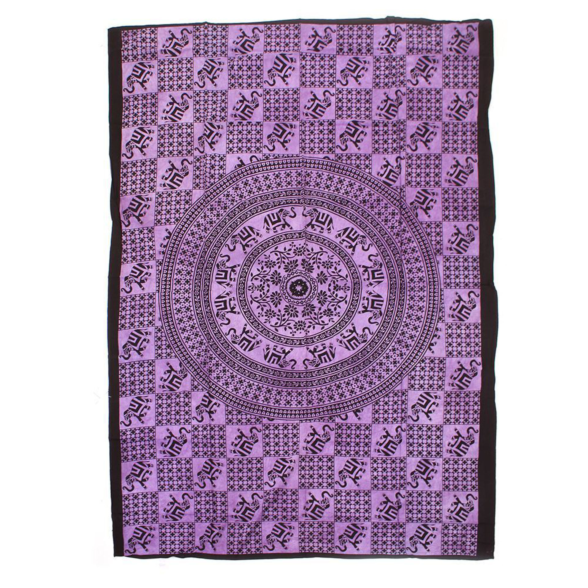 Picture of Purple Elephant Tapestry