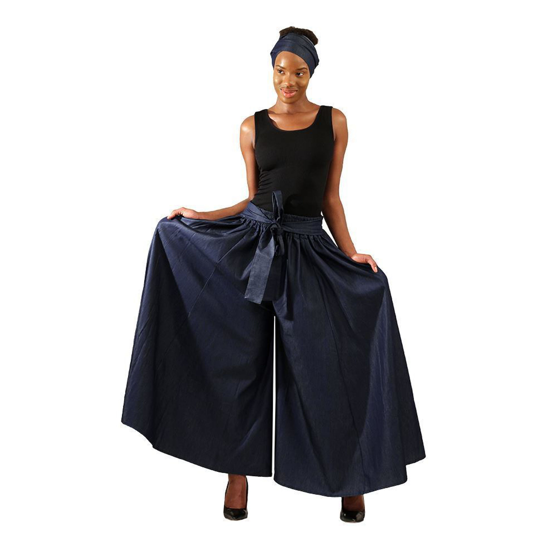 Picture of Denim Palazzo Pants