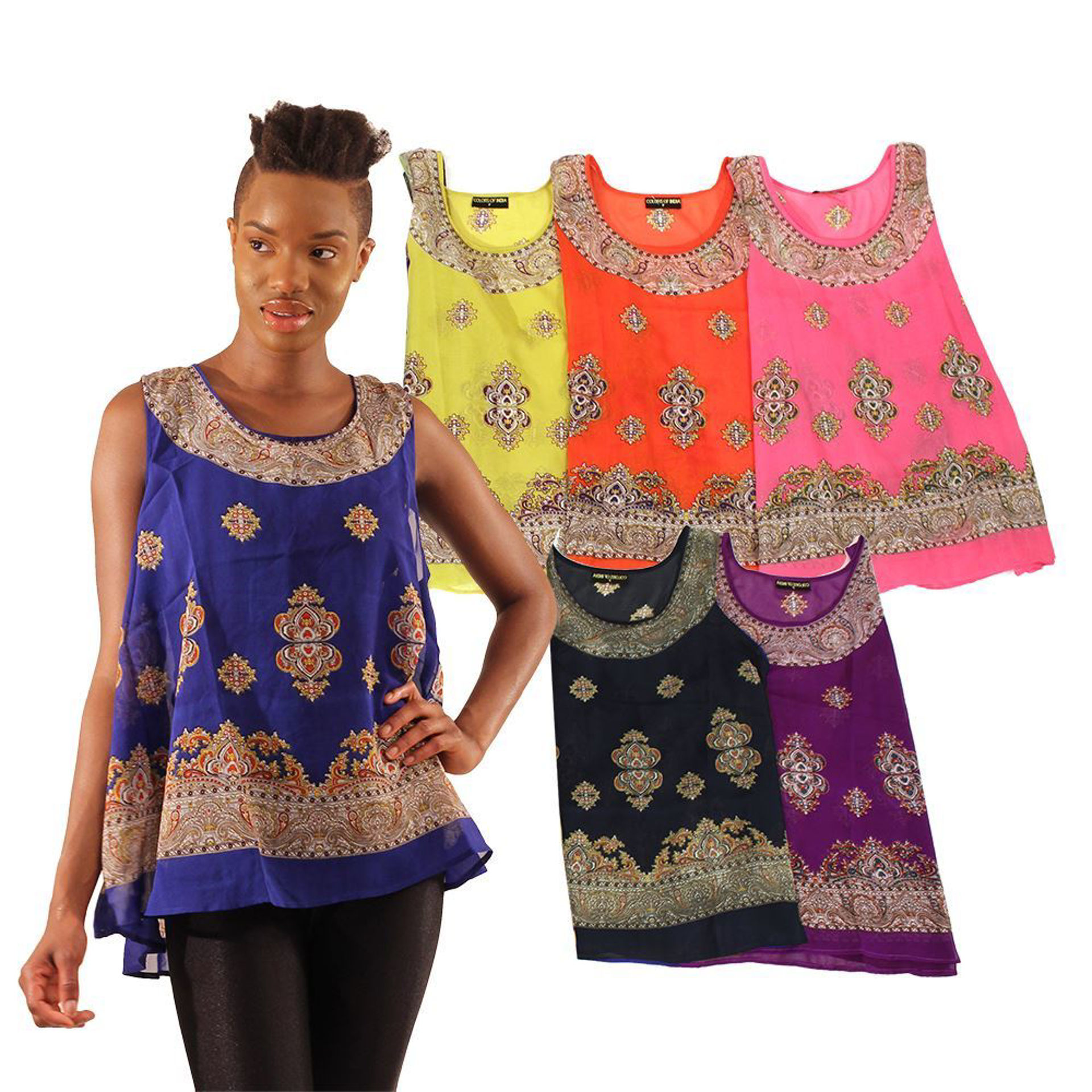 Picture of Set Of 6 Sleeveless Summer Tops