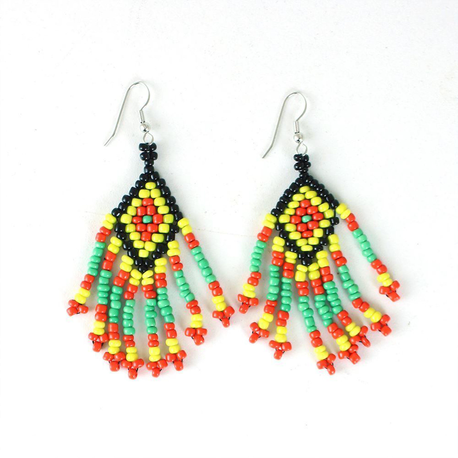 Picture of Set Of 12 Glass Bead Earrings - ASSORTED