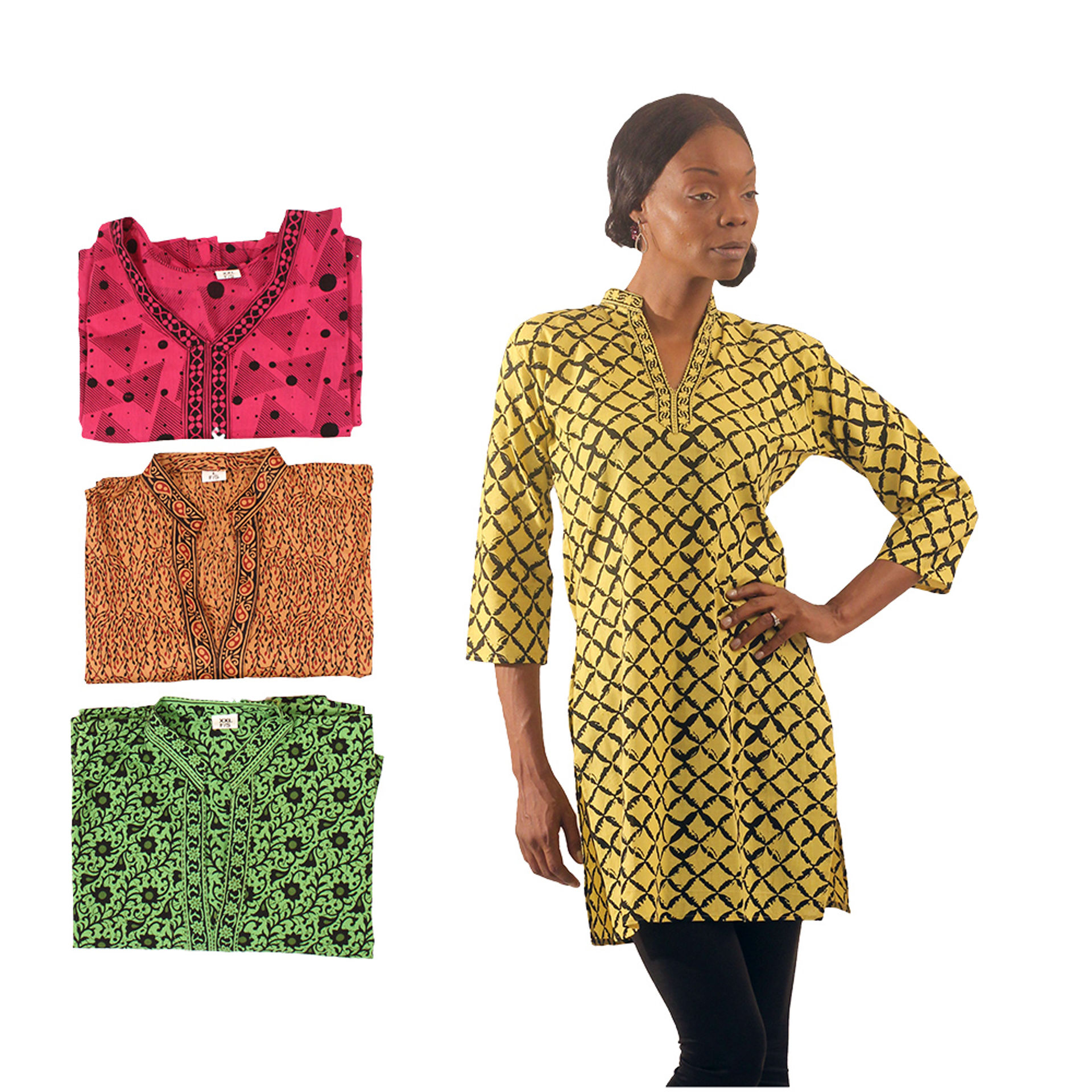 Picture of Set Of 4 Long Shirts - ASSORTED