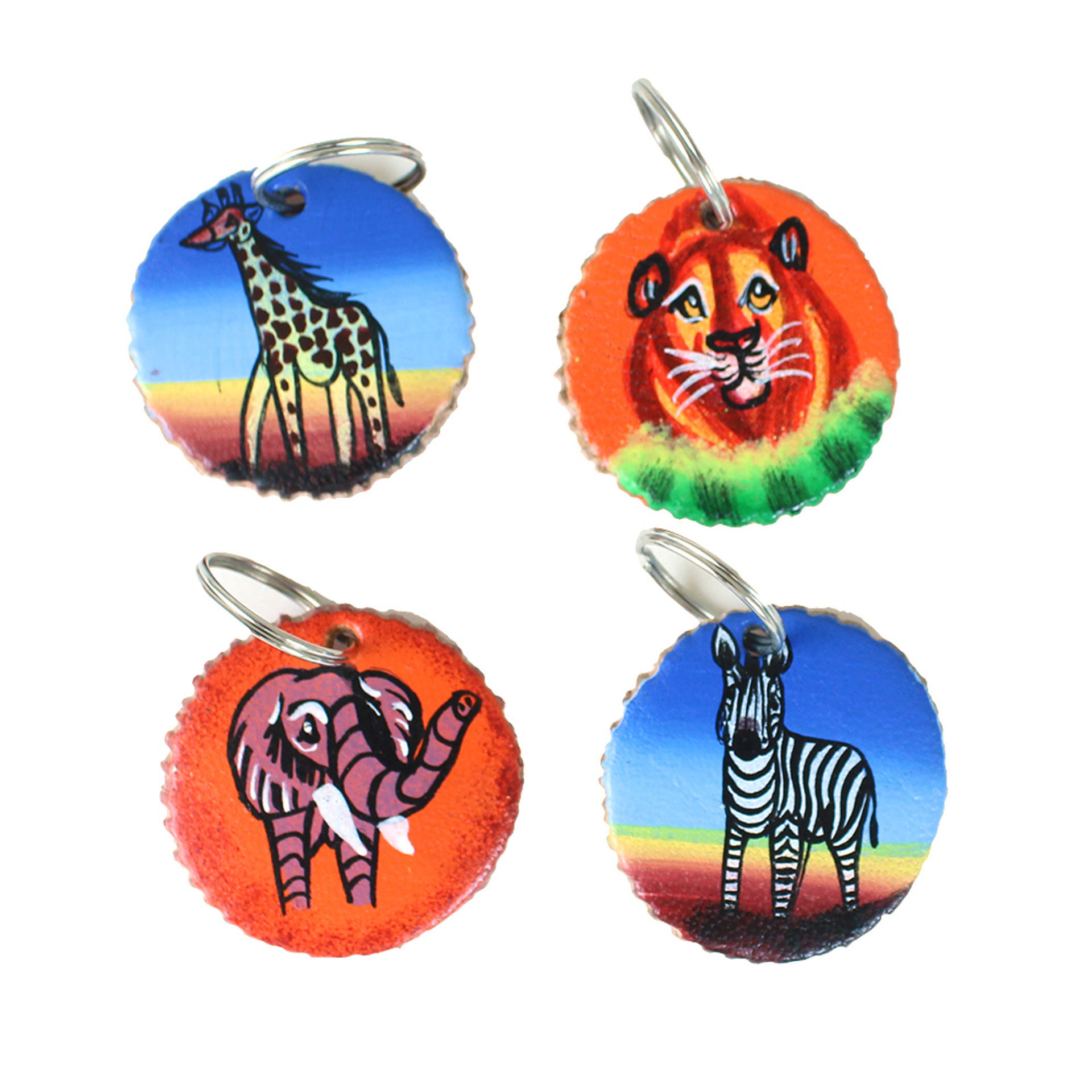 Picture of African Safari Round Leather Key Chain
