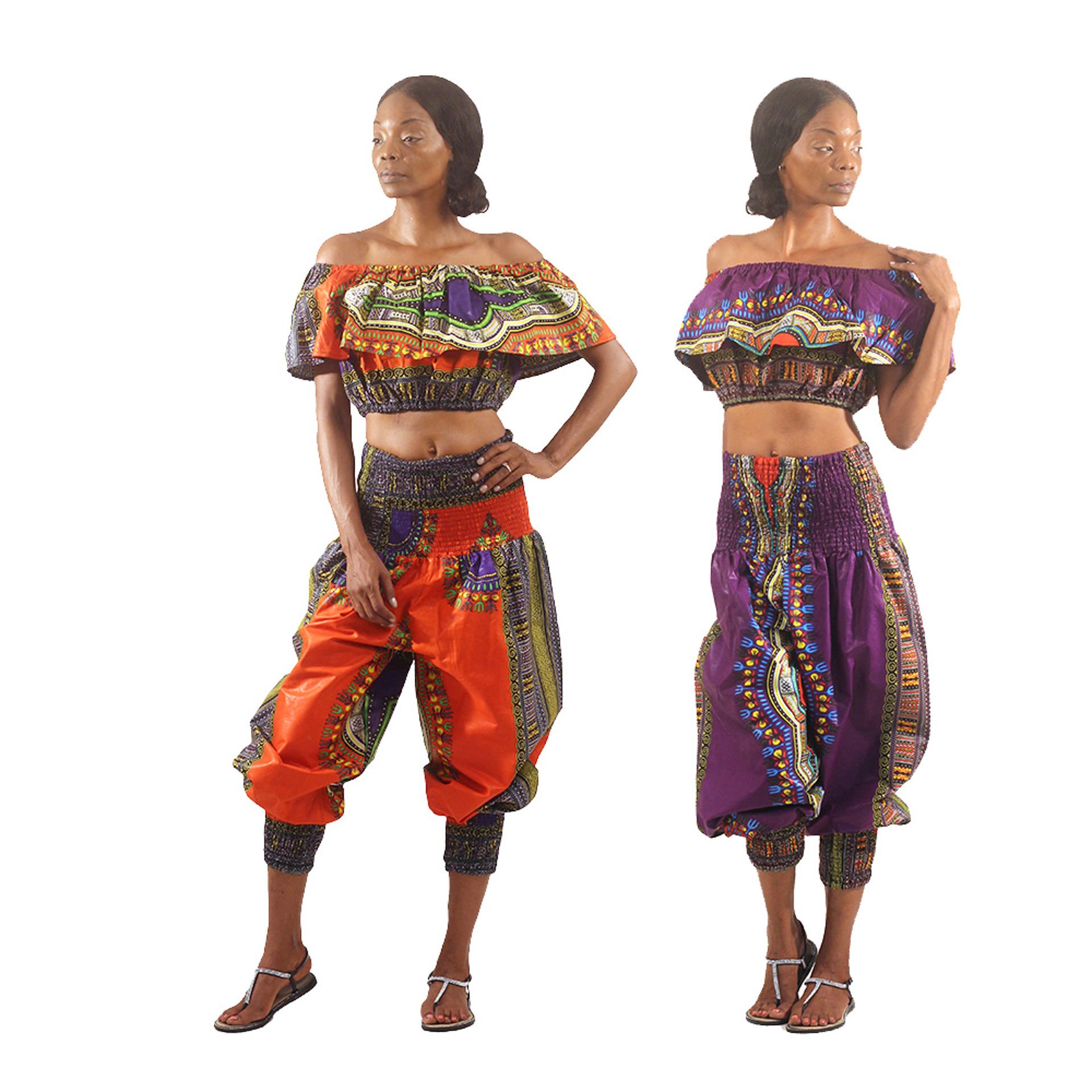 Picture of Traditional Print Halter Top & Pants