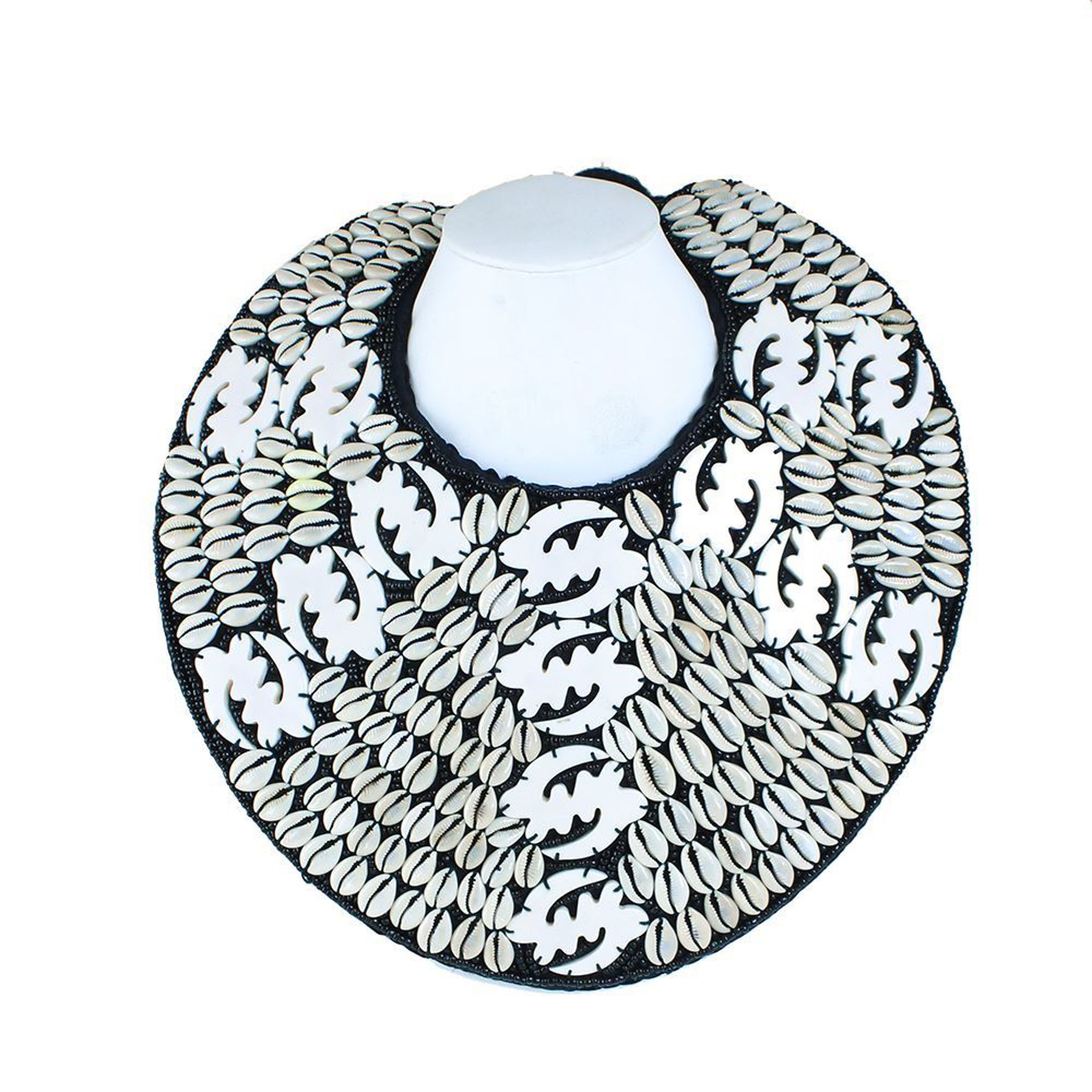 Picture of Gye Nyame Breastplate Necklace: White 2