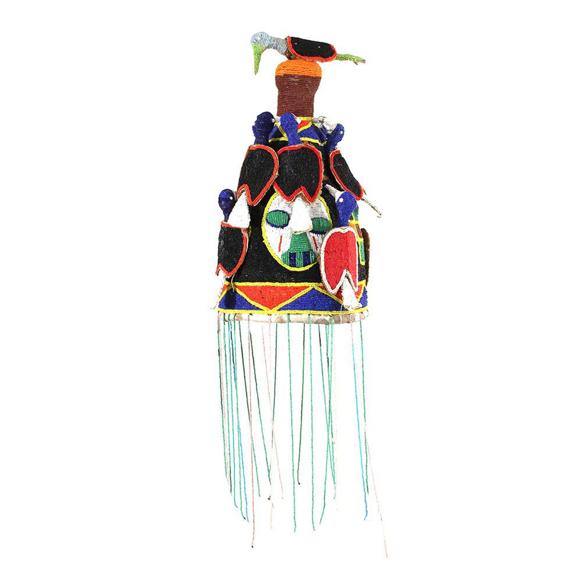 Picture of Beaded African Bird Hat