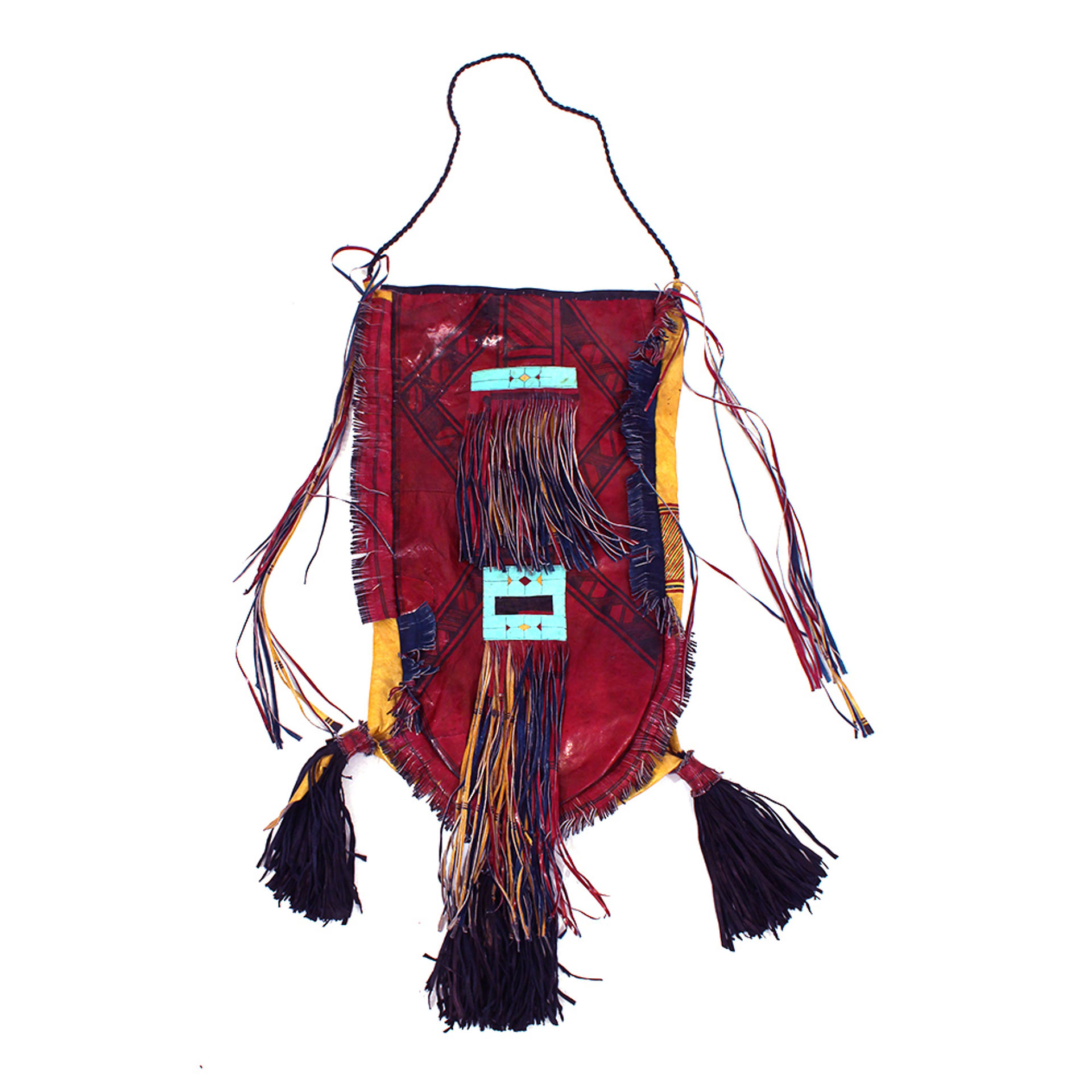 Picture of Deluxe Tuareg Leather Fringed Handbag
