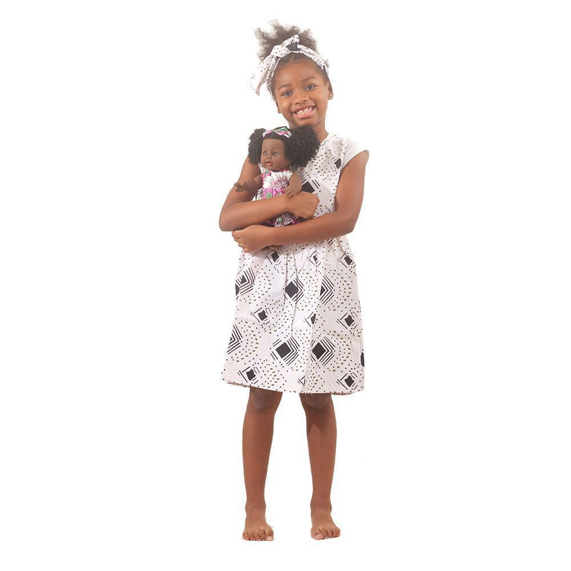 Picture of African Print Kiss Me Doll - ASSORTED