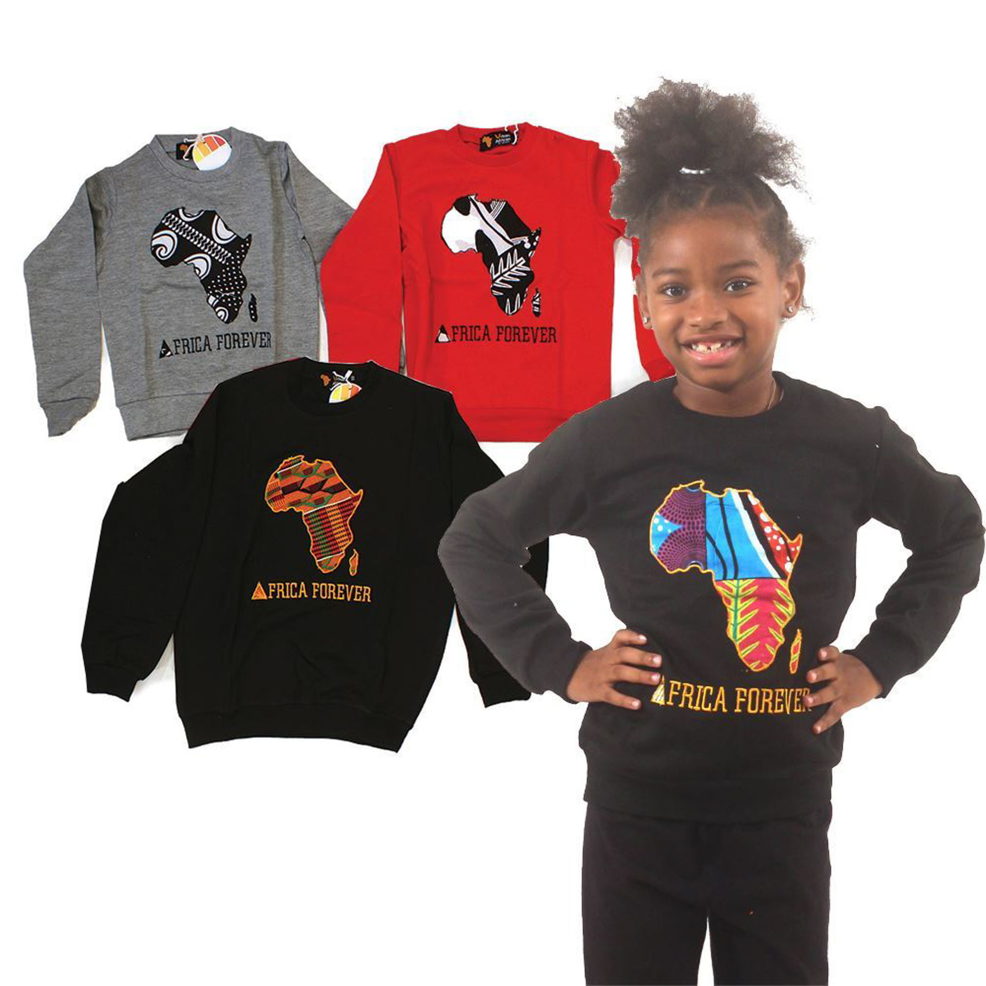 Picture of Set Of 4 Child Africa Sweatshirts ASSRTD
