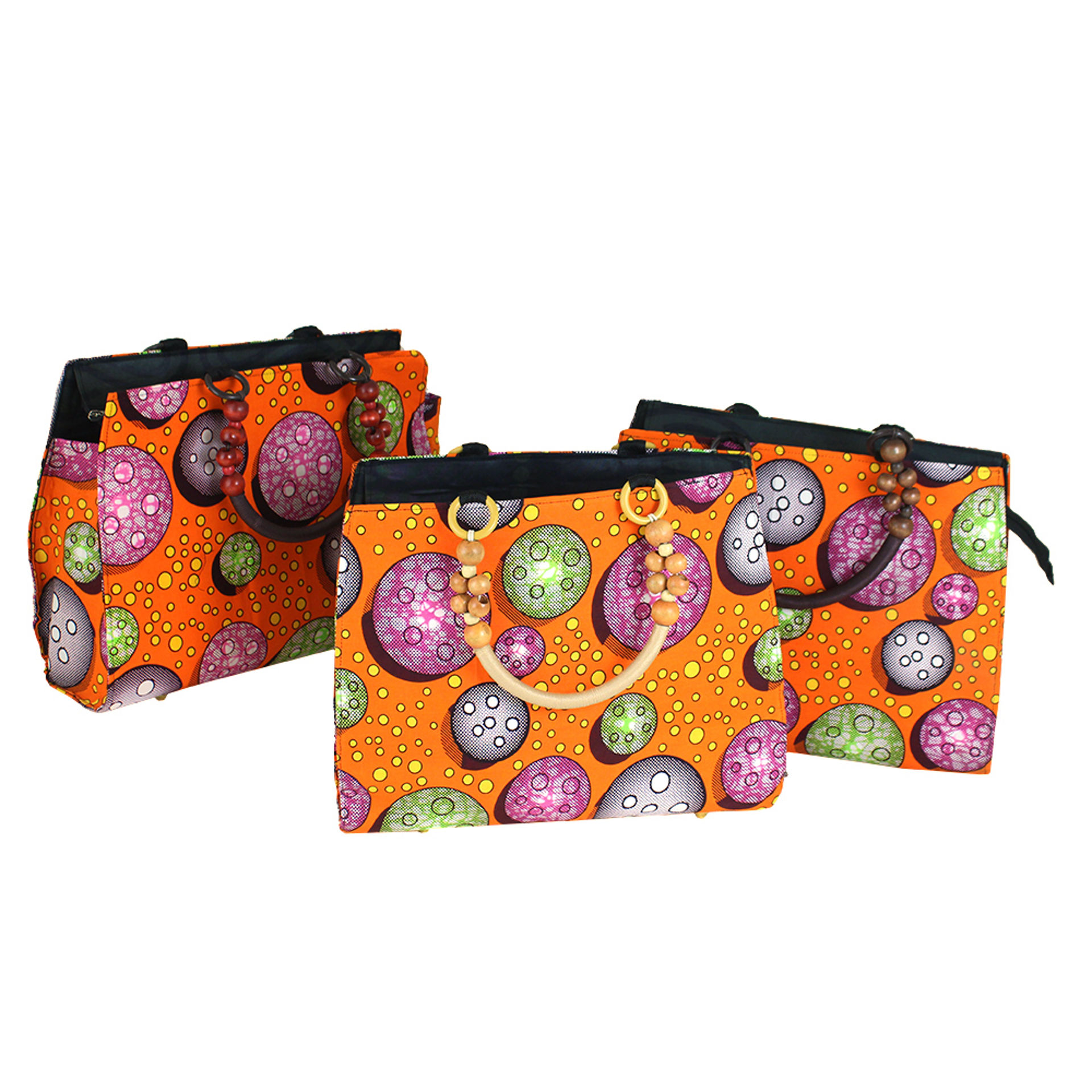 Picture of Orange African Print Handbag