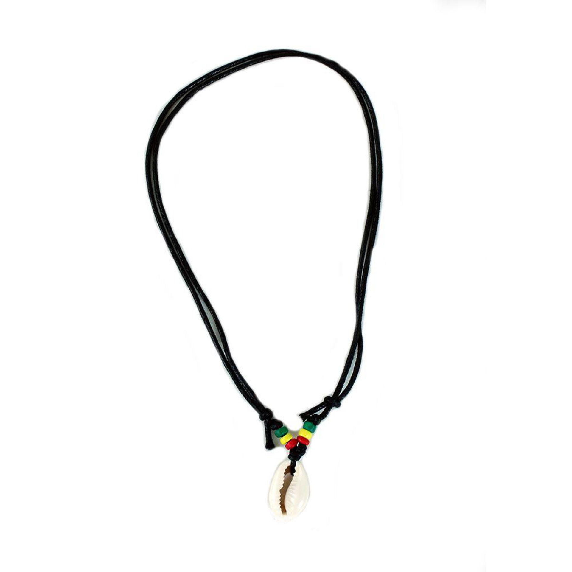Picture of Set Of 50 Rasta Bead Cowrie Necklace