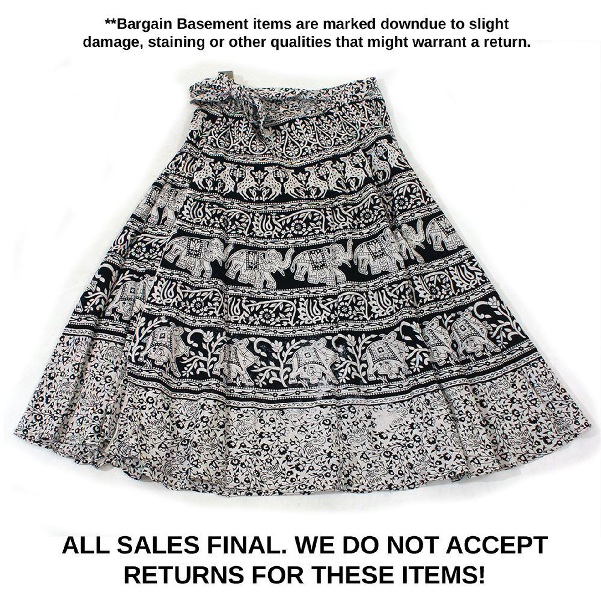Picture of MISPRINTED Animal Wrap Skirt: Black