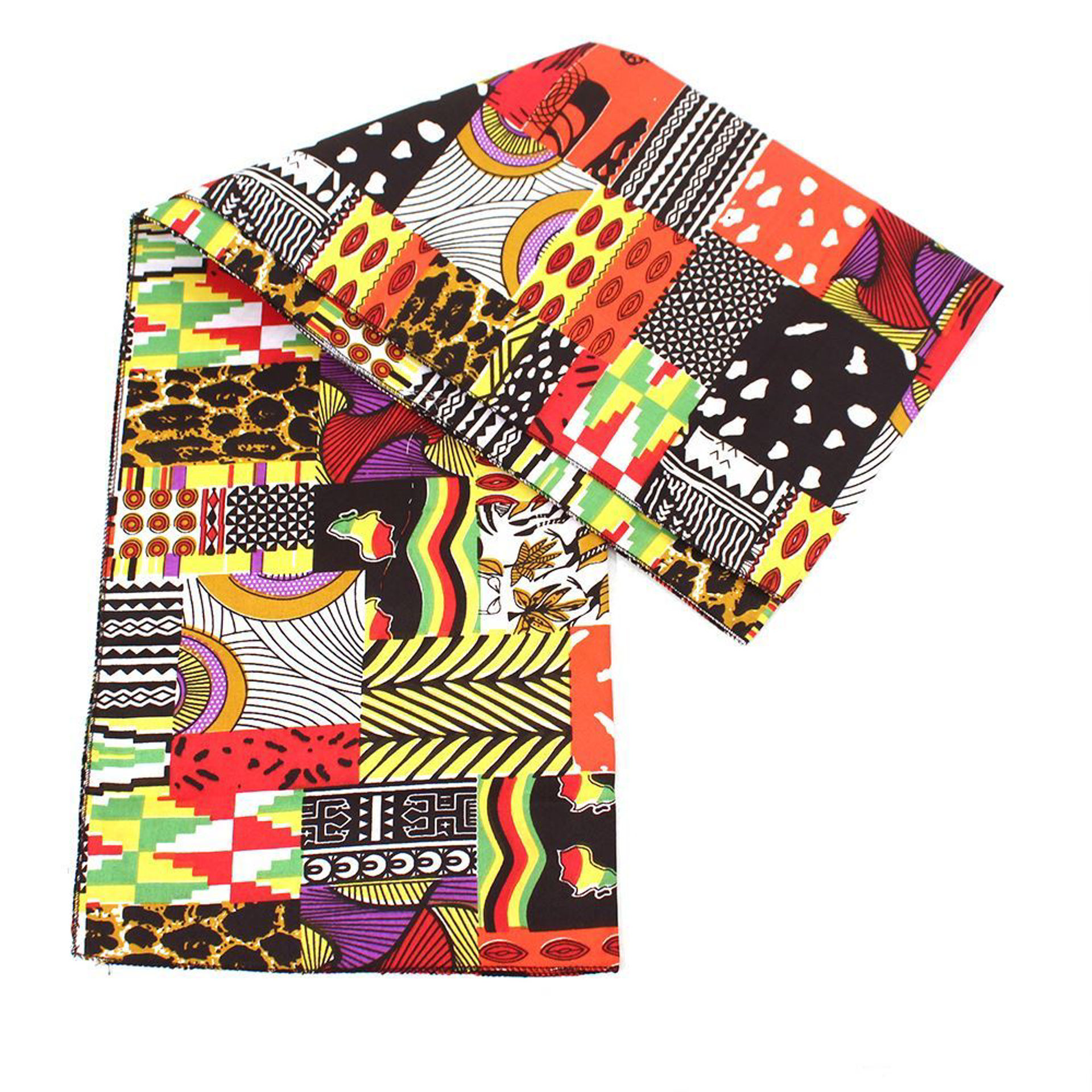 Picture of Afrocentric Patchwork Headwrap