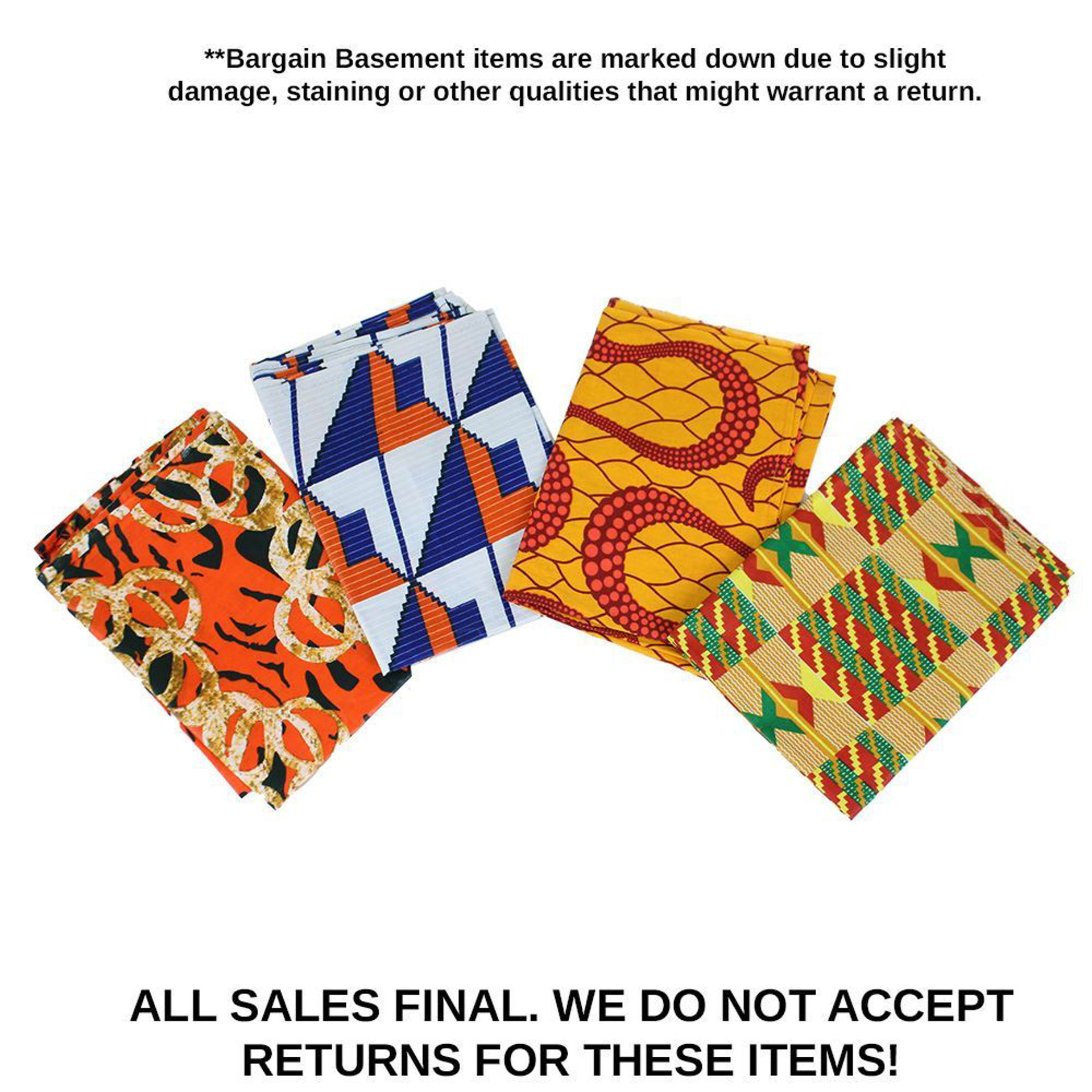 Picture of Set Of 4 DAMAGED Head Wraps - ASSORTED