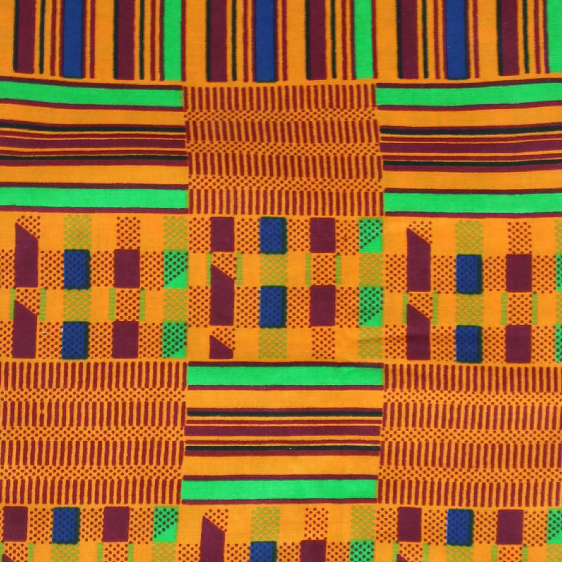 Picture of African-Made Kente #1 Fabric 1 Yard