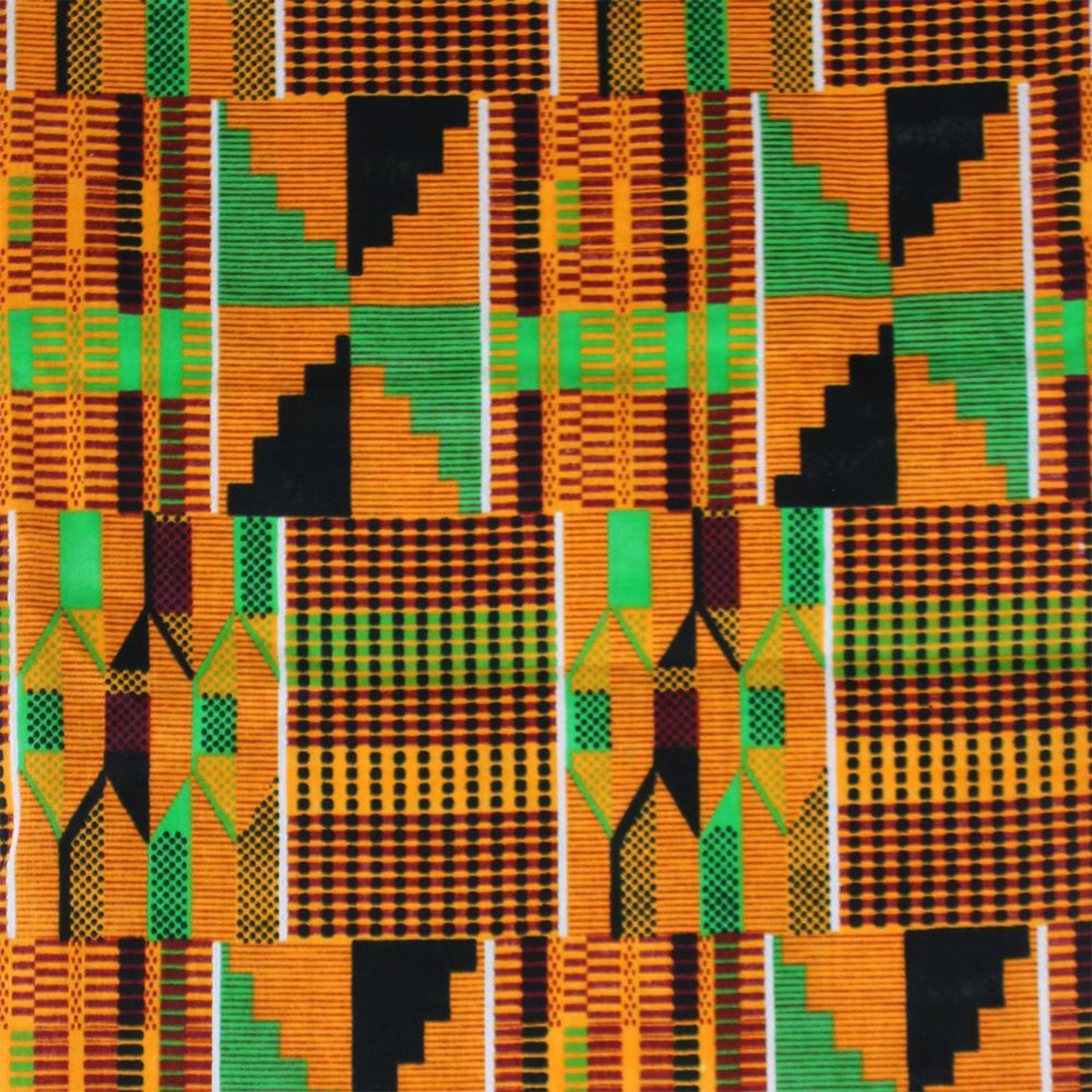 Picture of African-Made Kente #2 Fabric 3 Yards