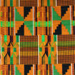 Picture of African-Made Kente #2 Fabric 1 Yard