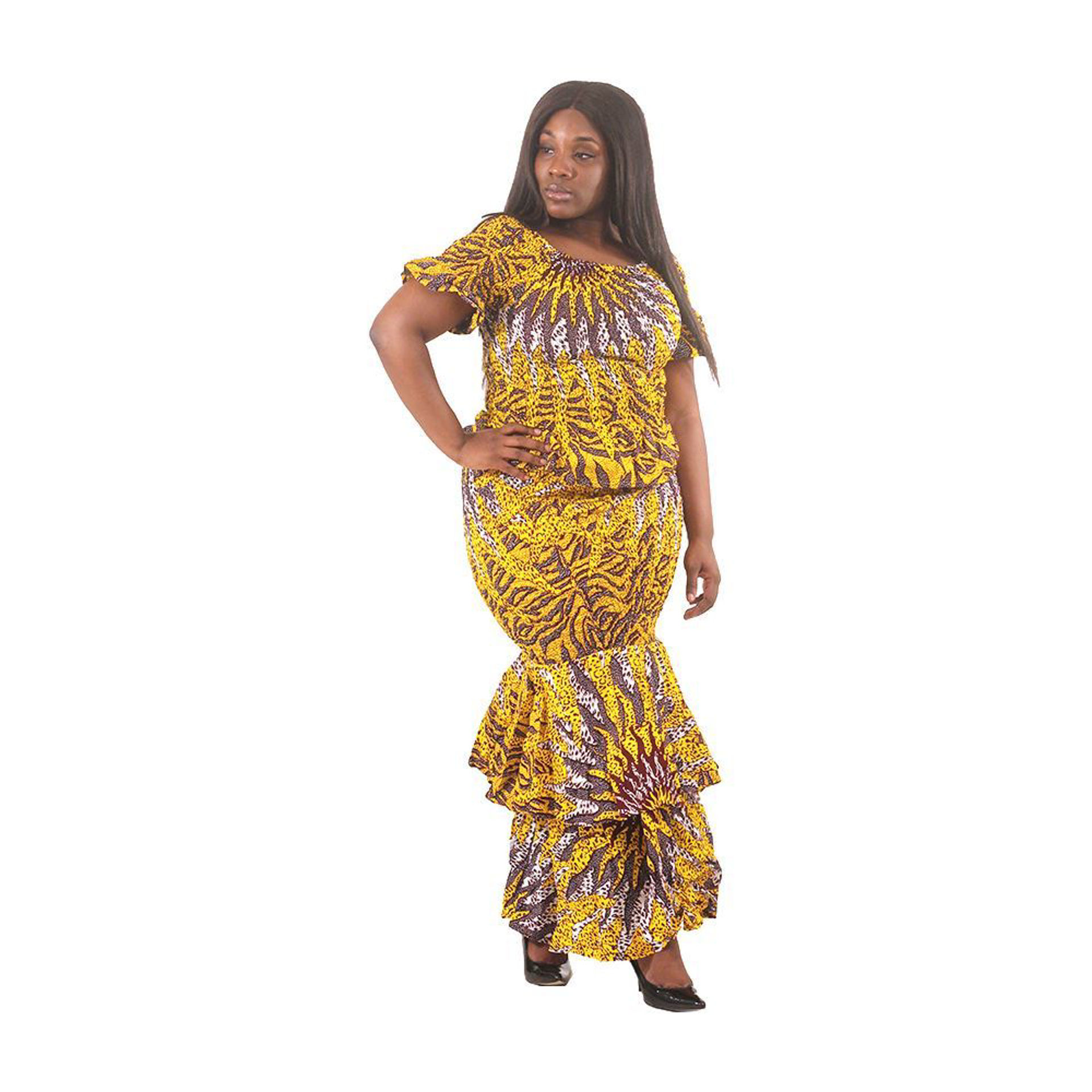 Picture of Yellow Sun 2-Piece Elastic Skirt Set