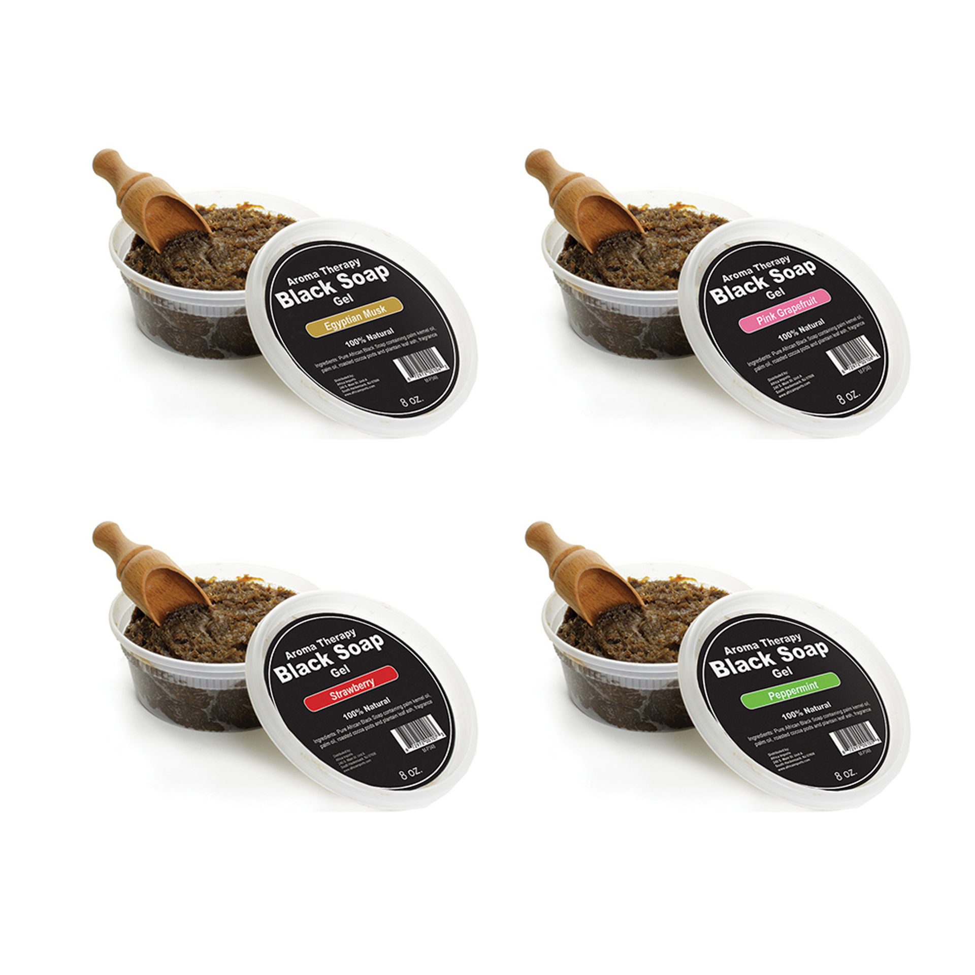 Picture of Set Of 4 Scented Black Soap Gels