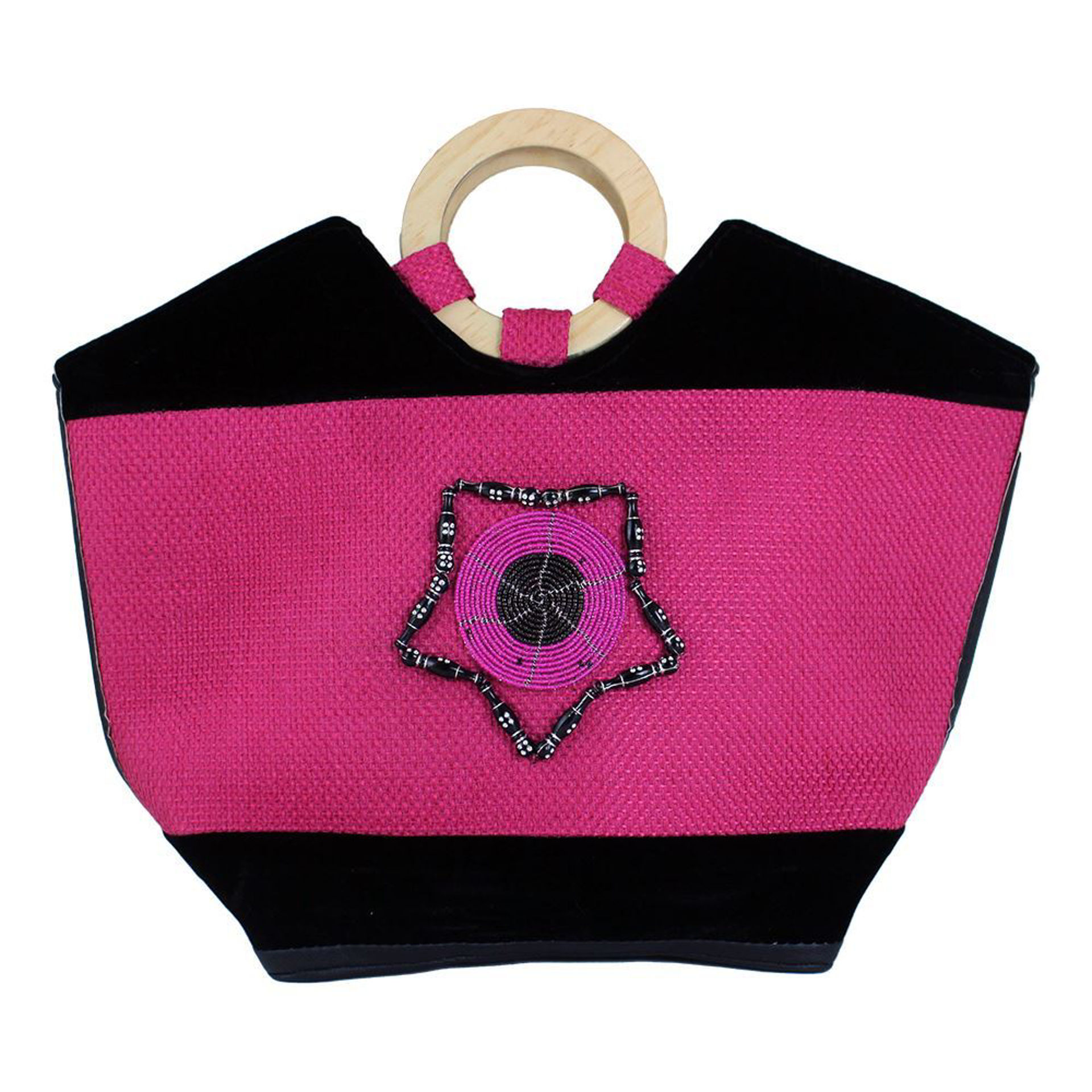 Picture of Leather Handbag - Pink