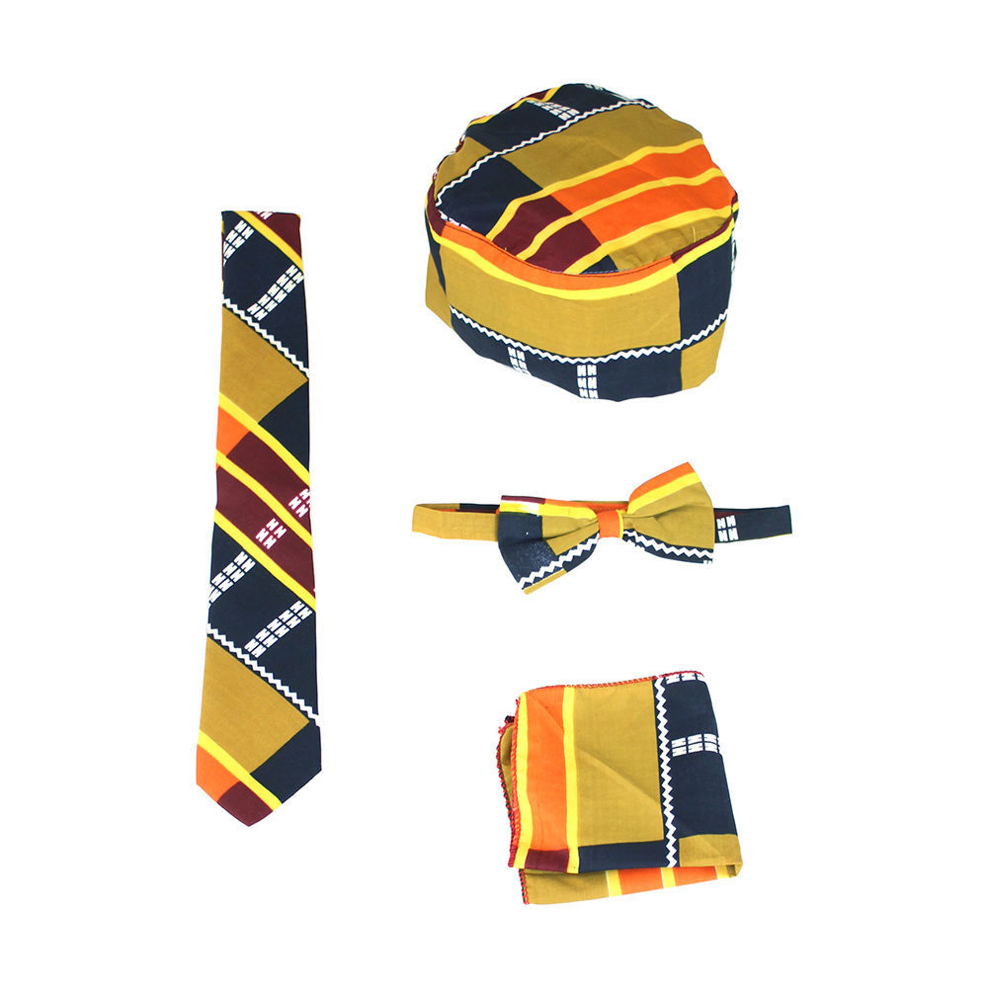 Picture of Mustard Kente #3 Accessory Set