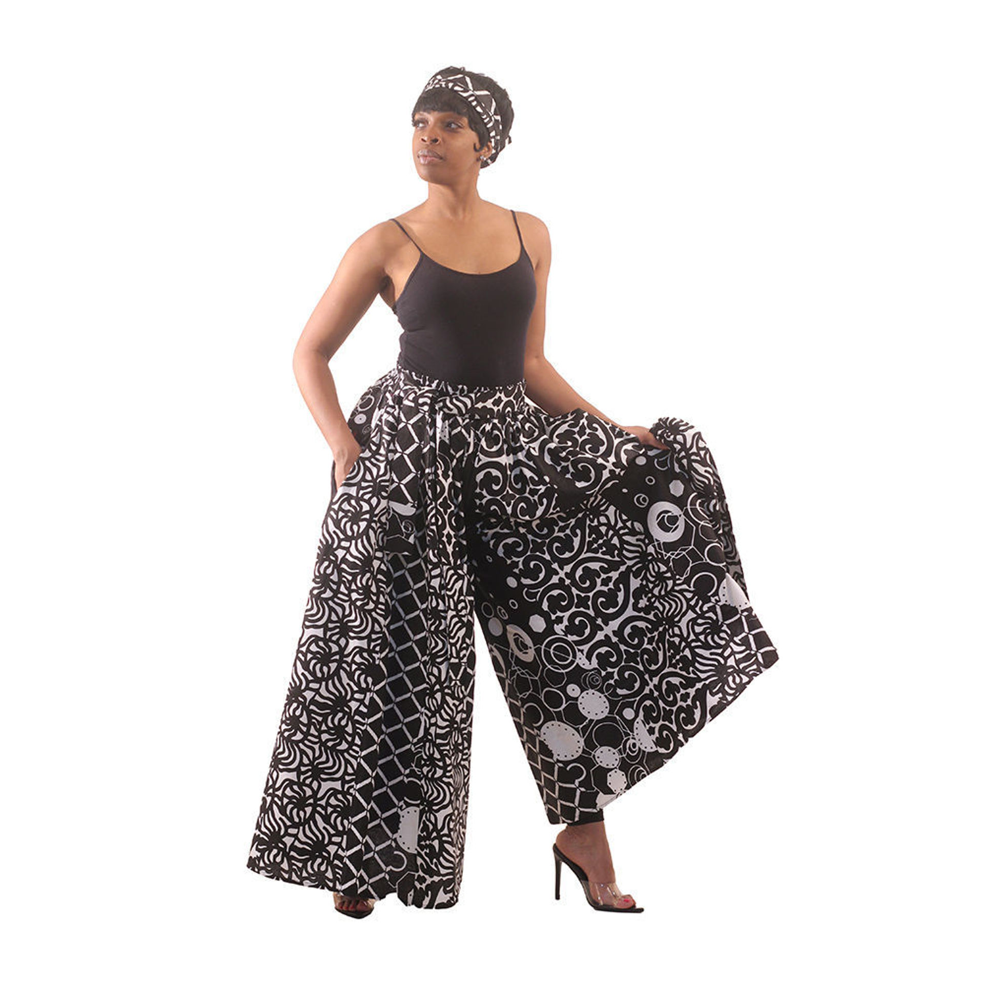 Picture of Black & White Palazzo Pants