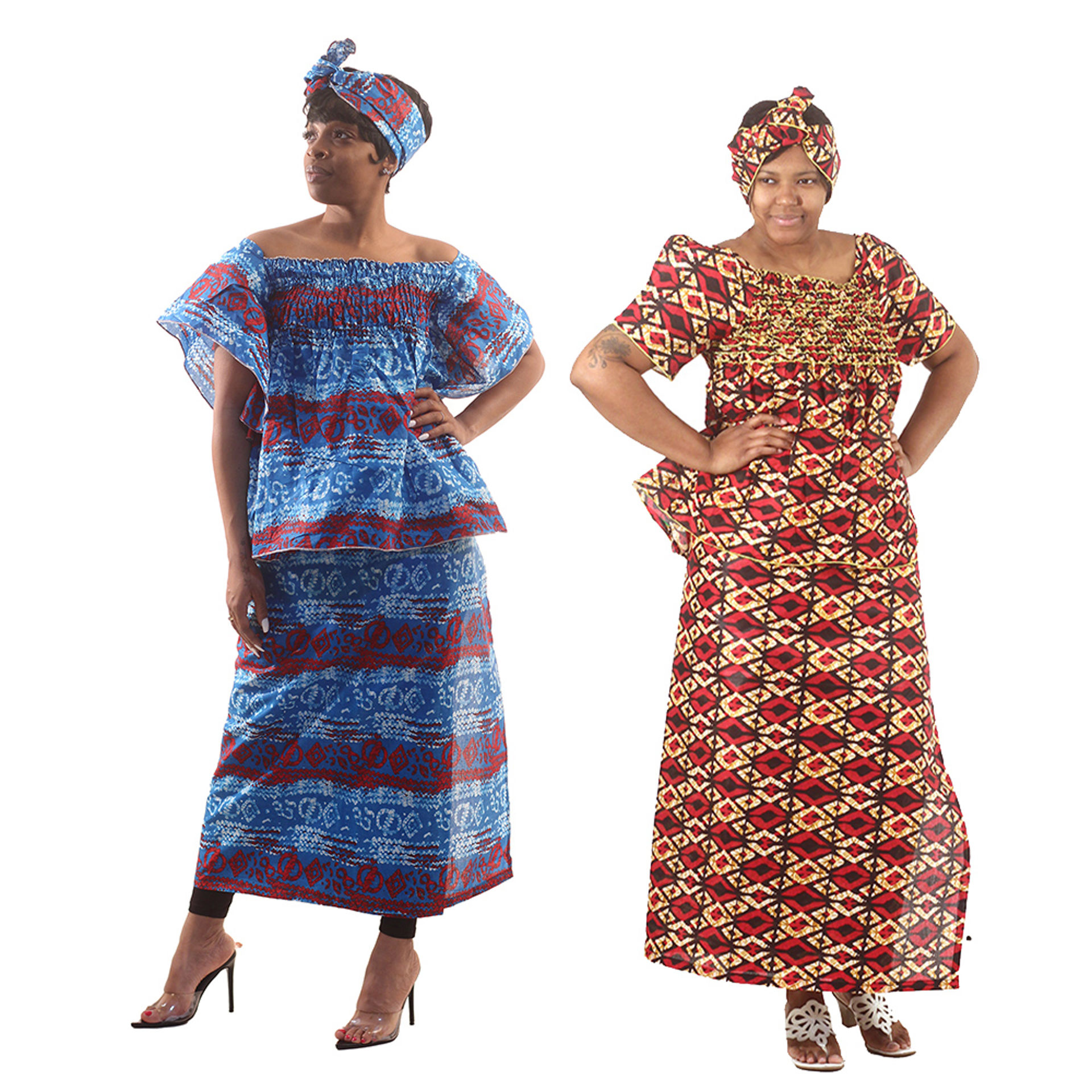 Picture of African Print Elastic Skirt Set