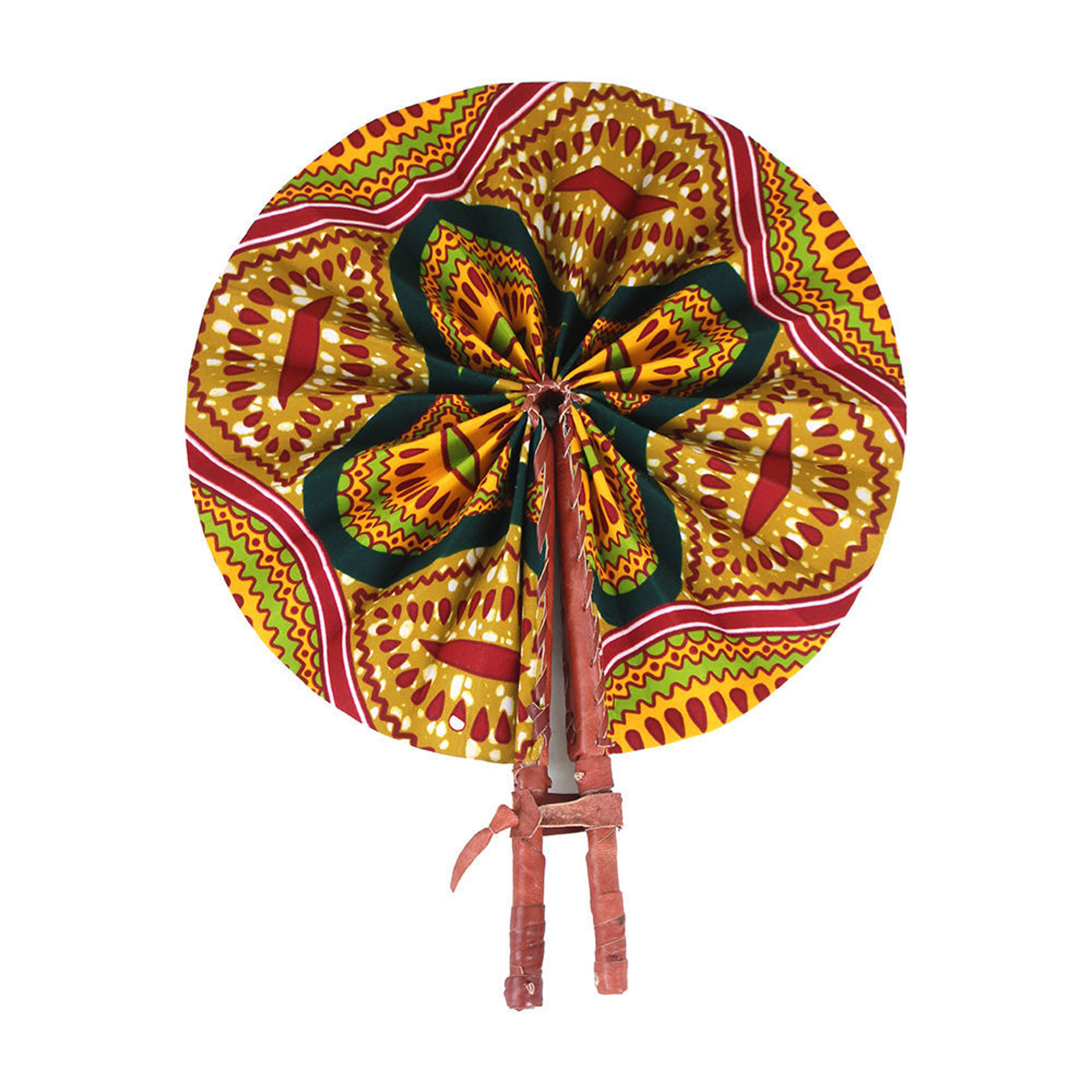 Picture of African Shell Print Folding Fan
