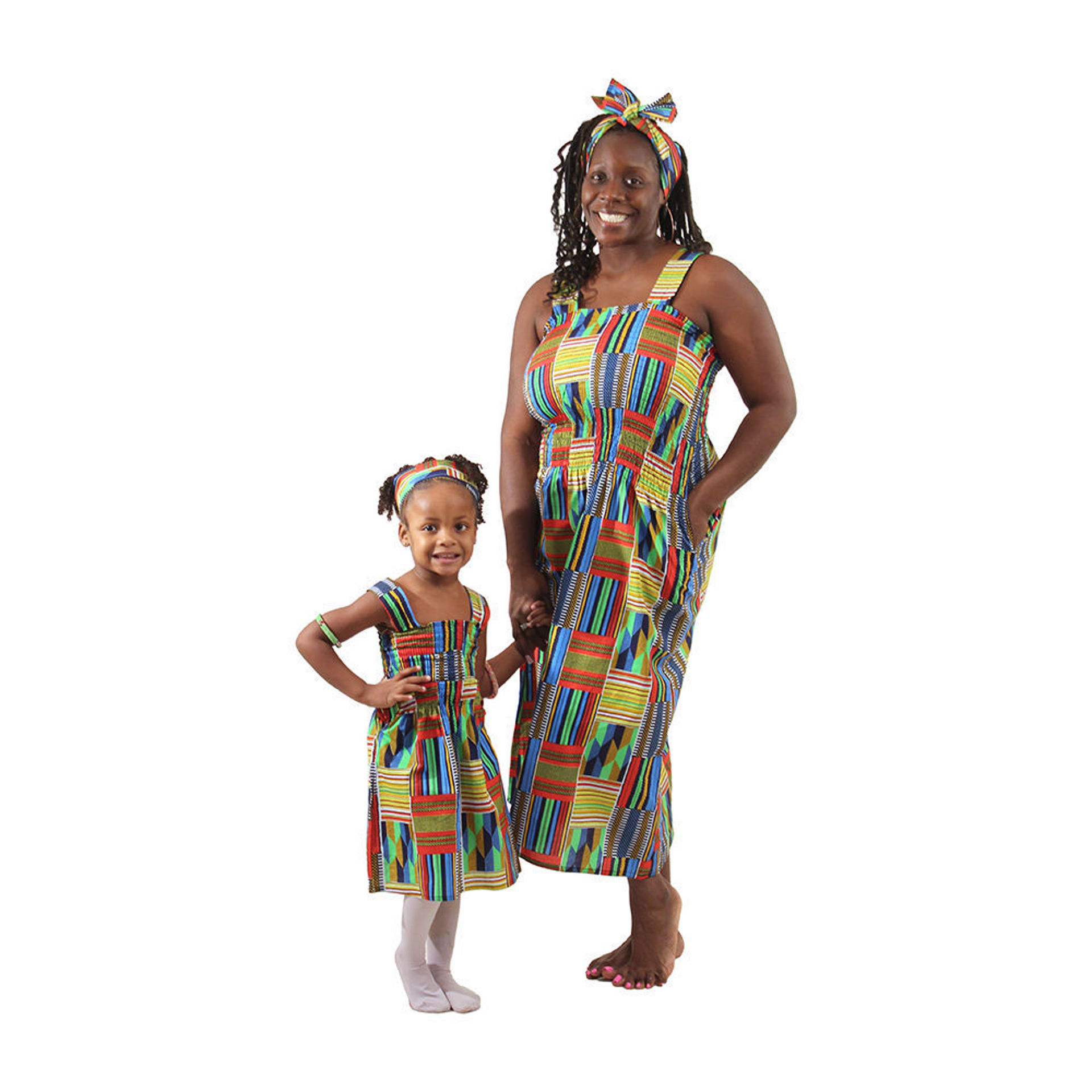 Picture of Kente Mother & Daughter Dress Set