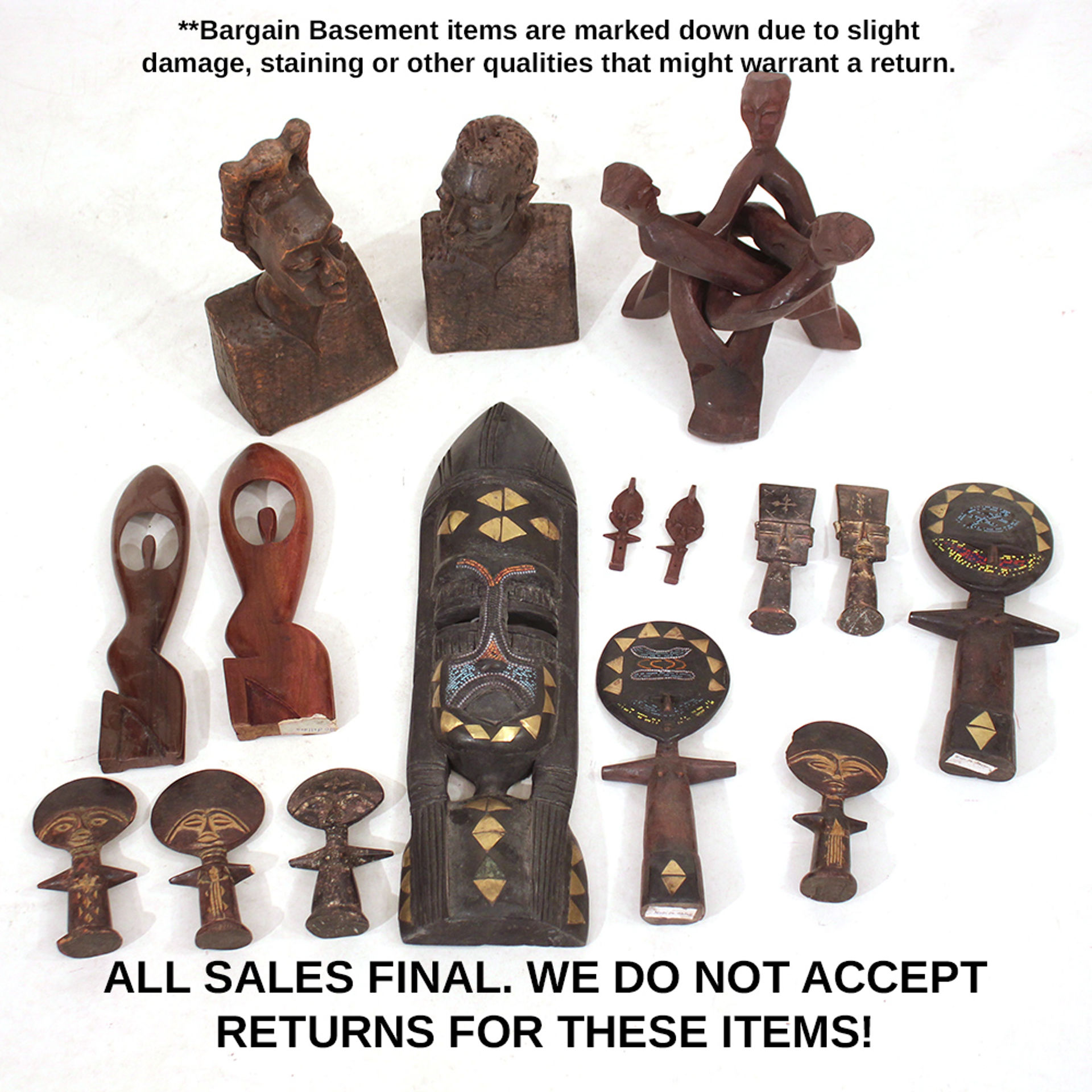 Picture of Assorted Woodcarvings - Set B