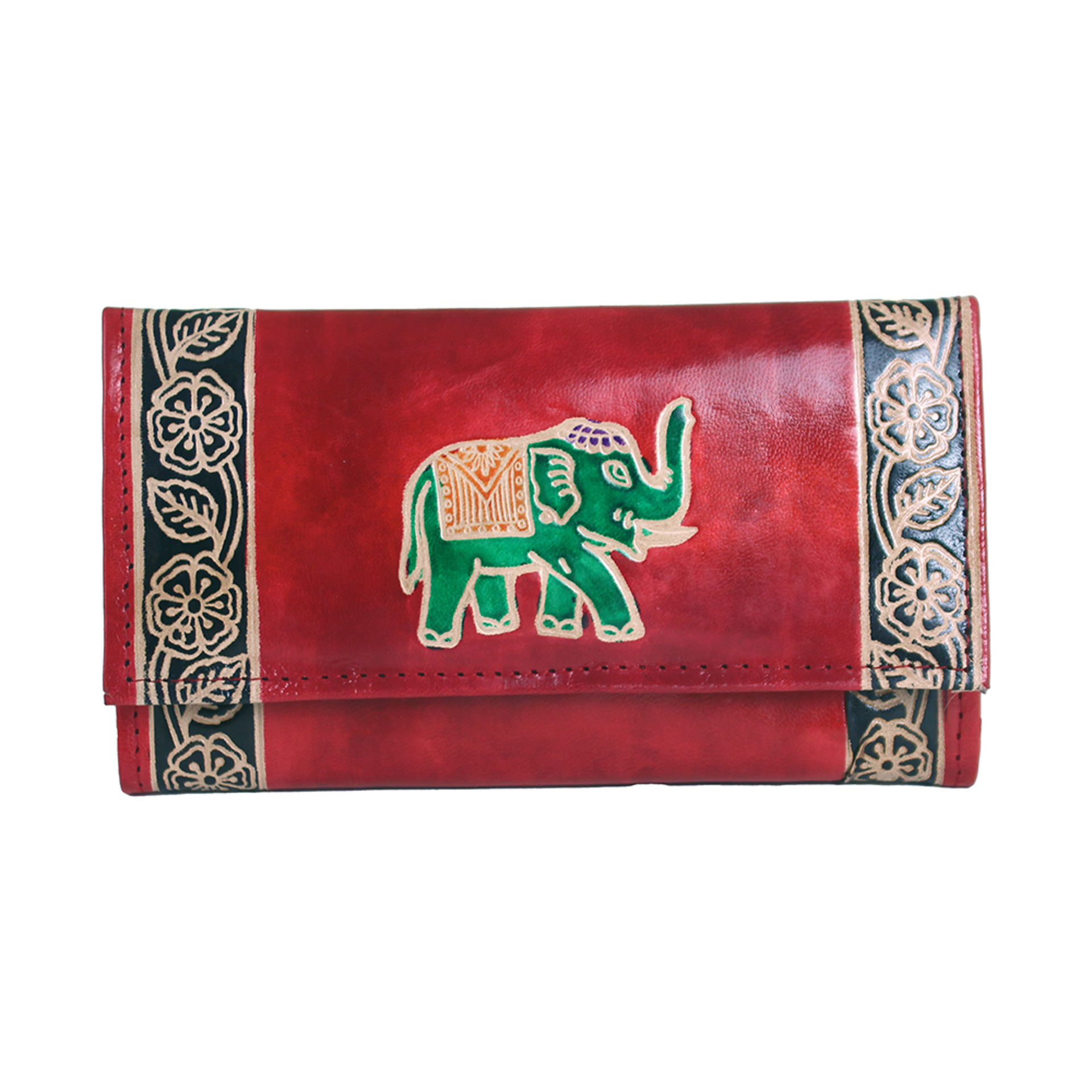 Picture of ASSORTED Leather Elephant Wallet - SM