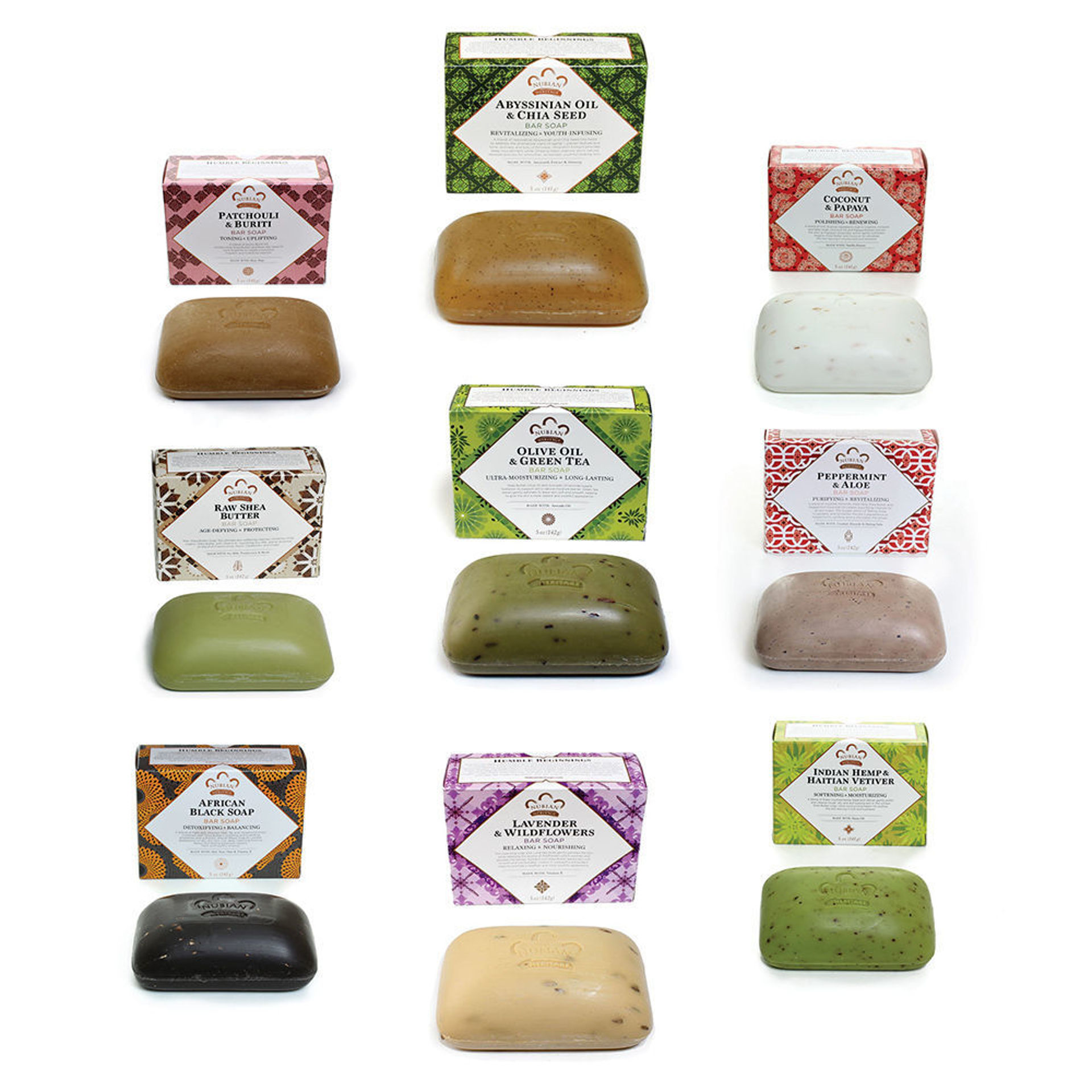 Picture of Set Of 9 Nubian Heritage Soaps