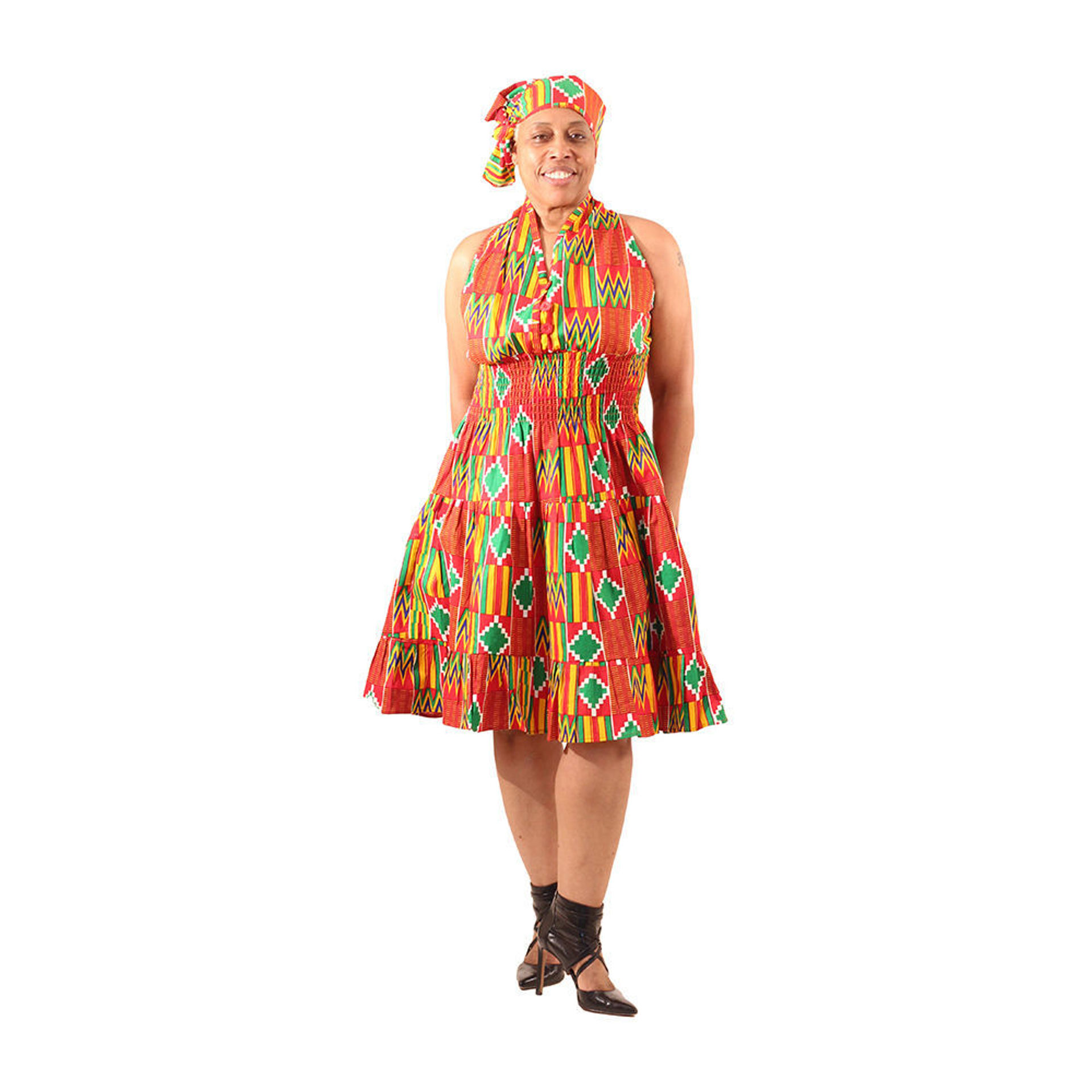 Picture of Red Kente Swing Dress