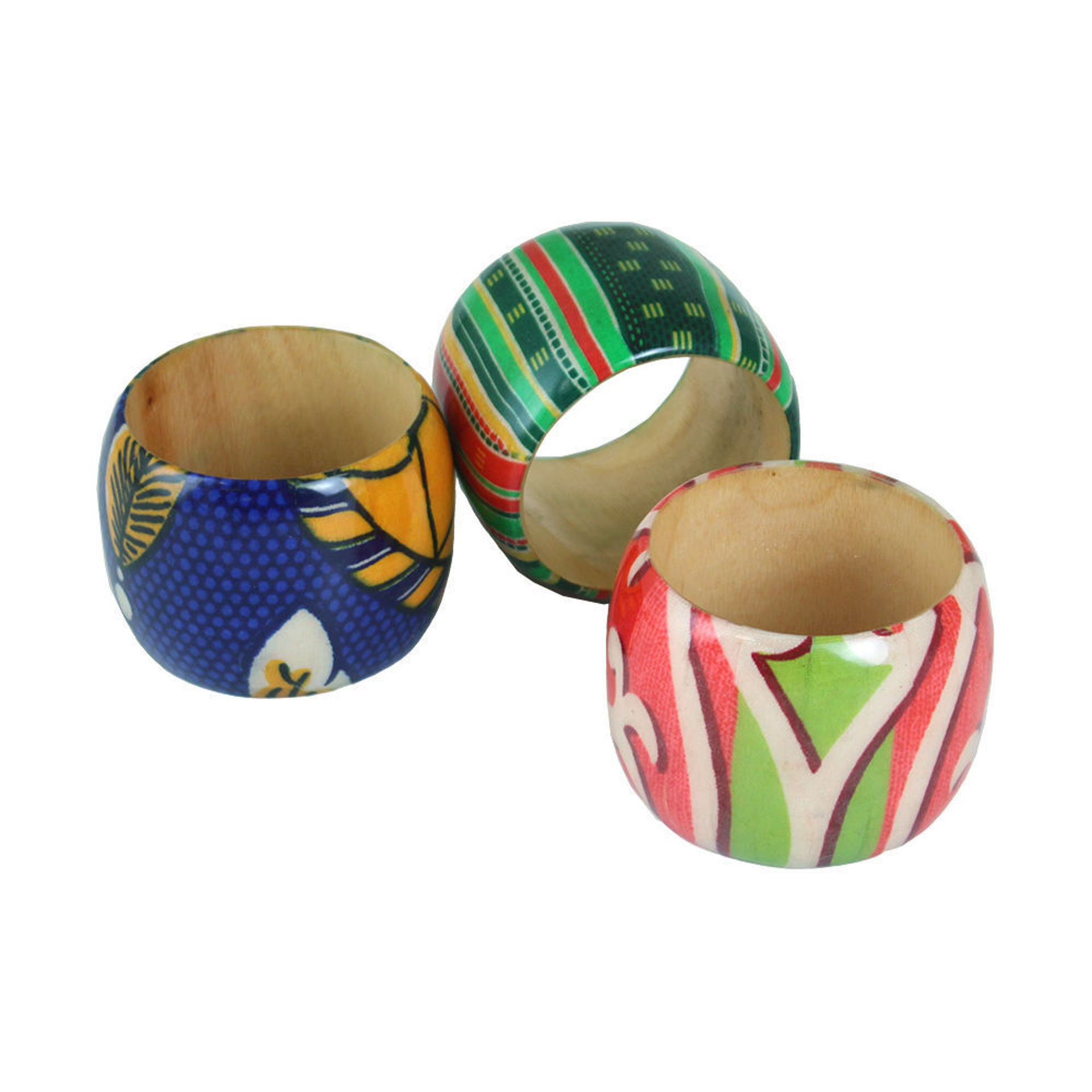 Picture of Set Of 3 Afrocentric Cuffs - ASSORTED