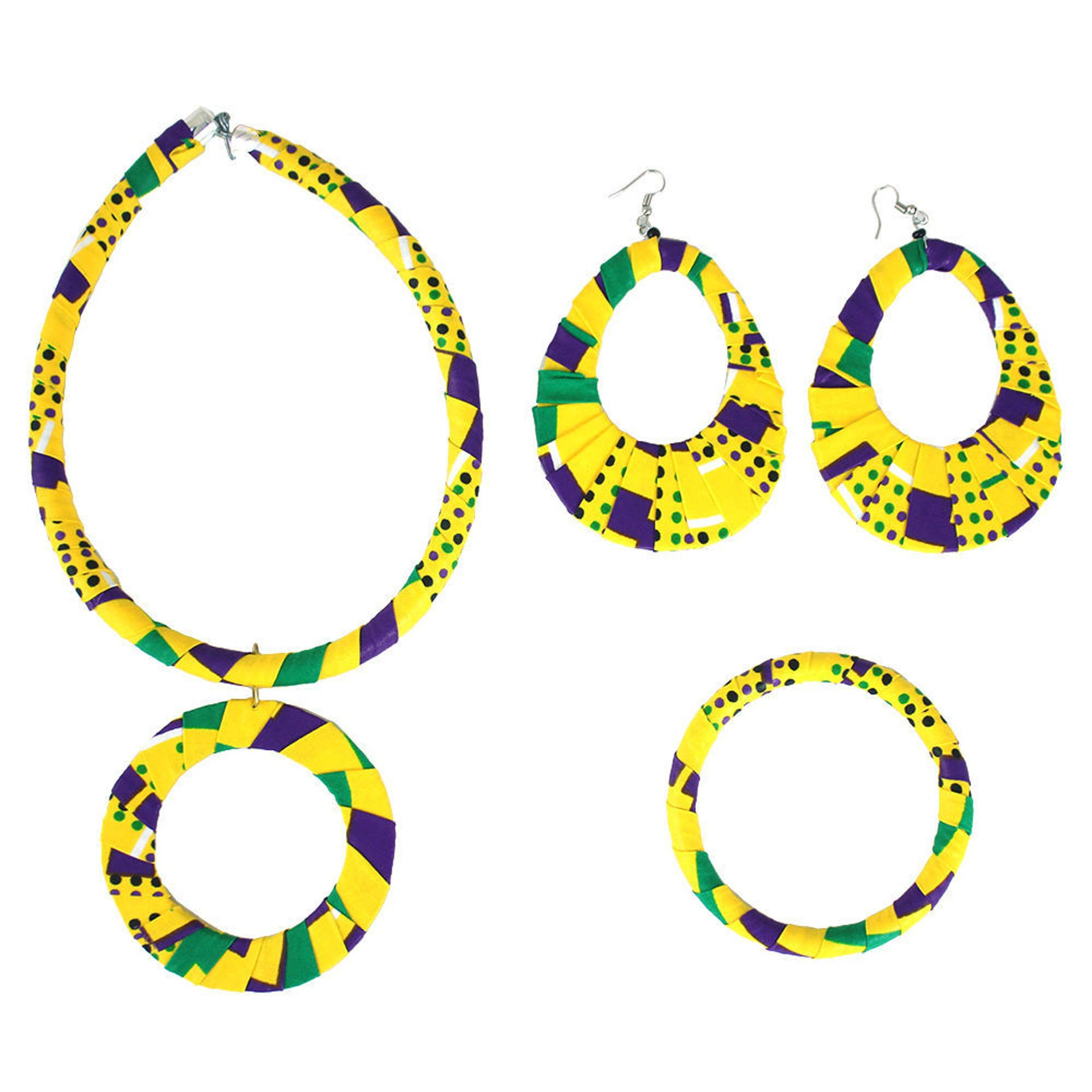 Picture of Yellow Kitenge Jewelry Set