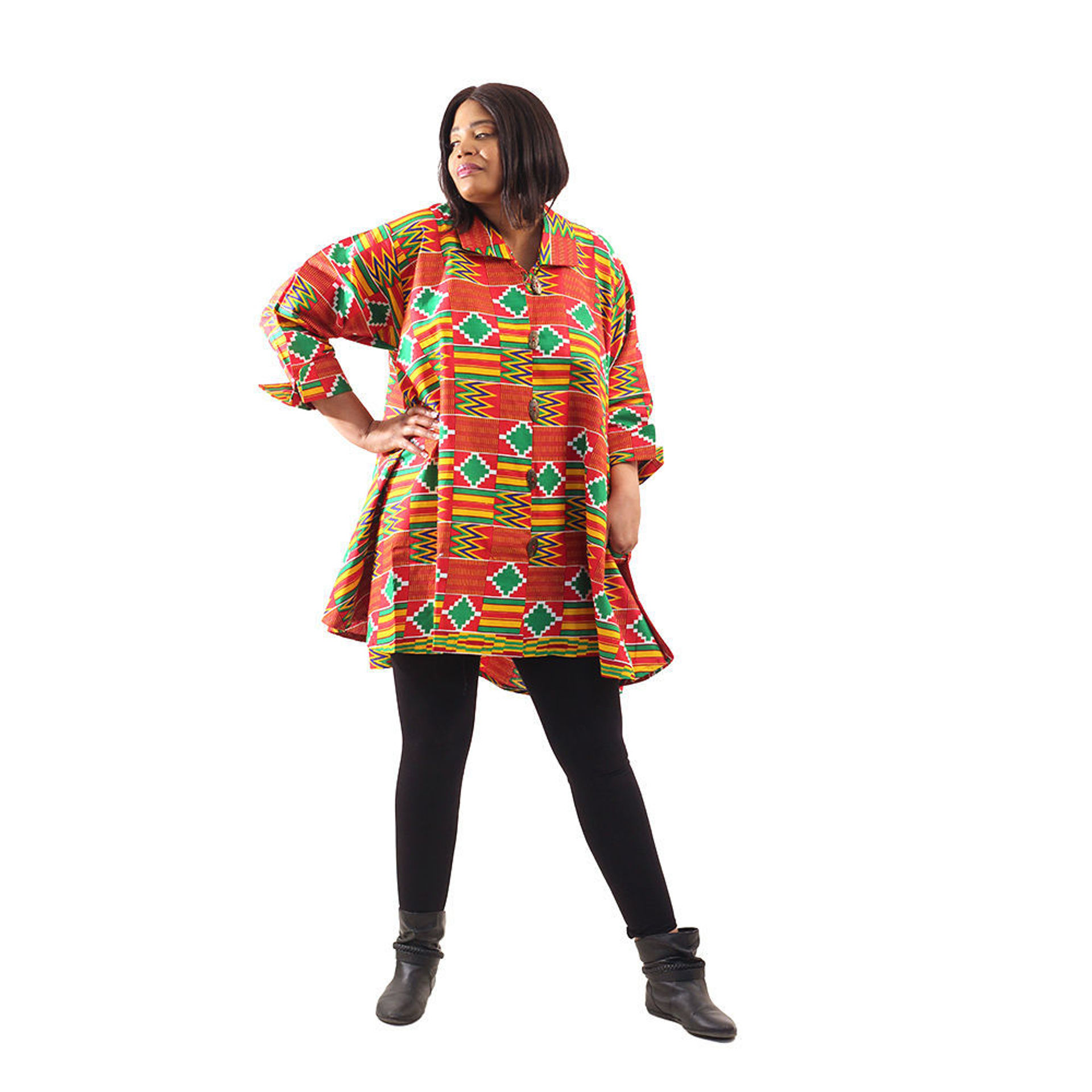 Picture of Red Kente Button Shirt