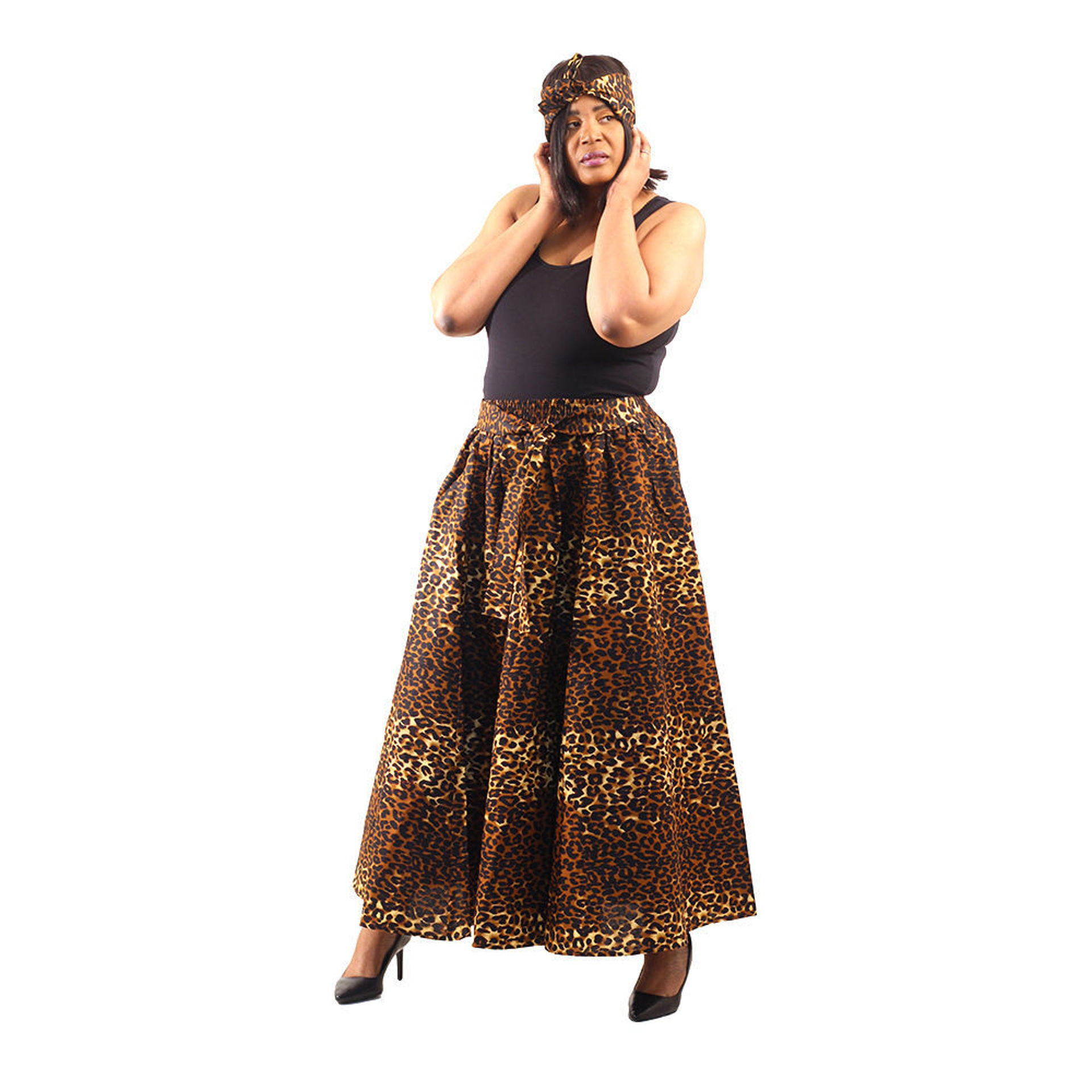 Picture of Leopard Print Maxi Skirt