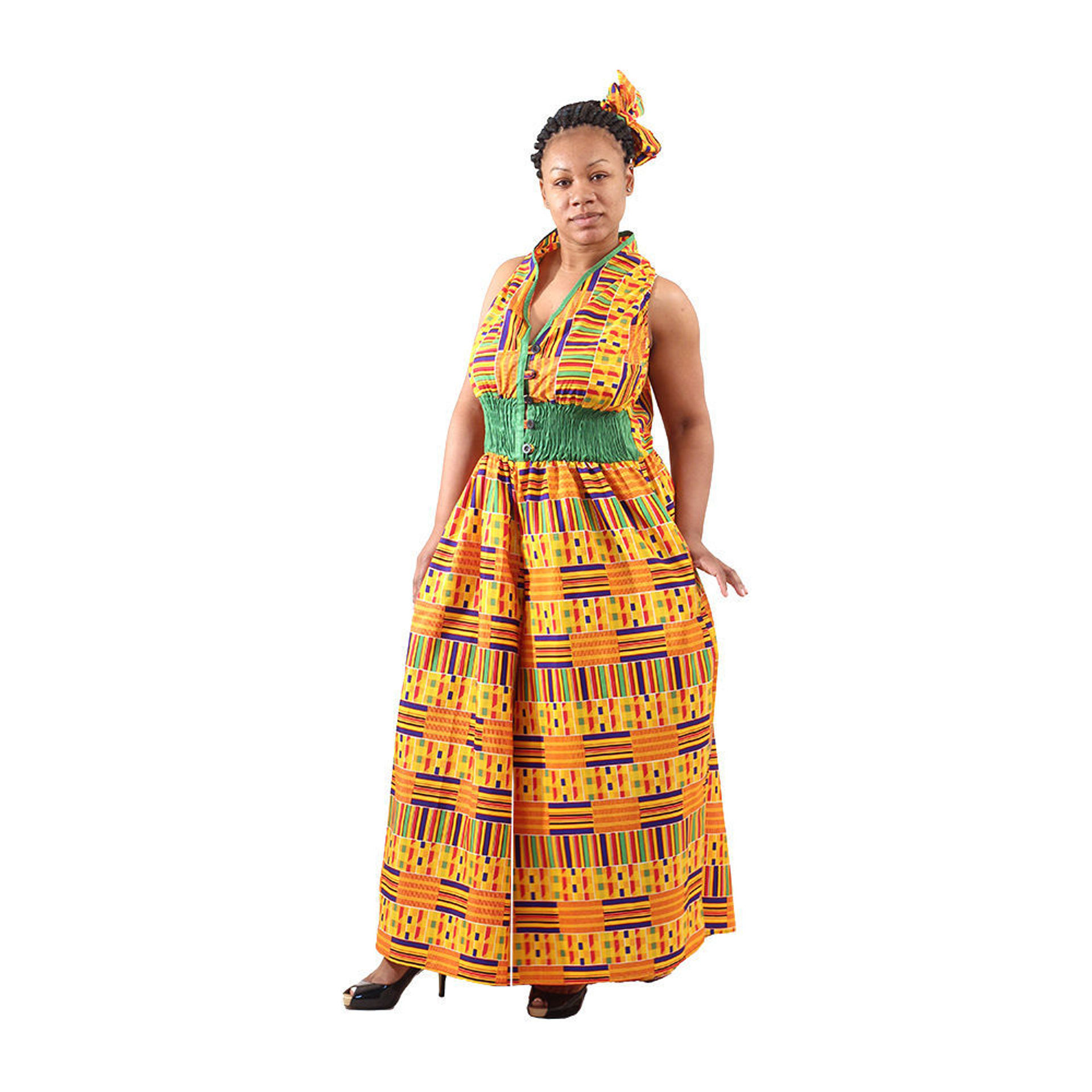 Picture of Kente #1 Palazzo Jumpsuit