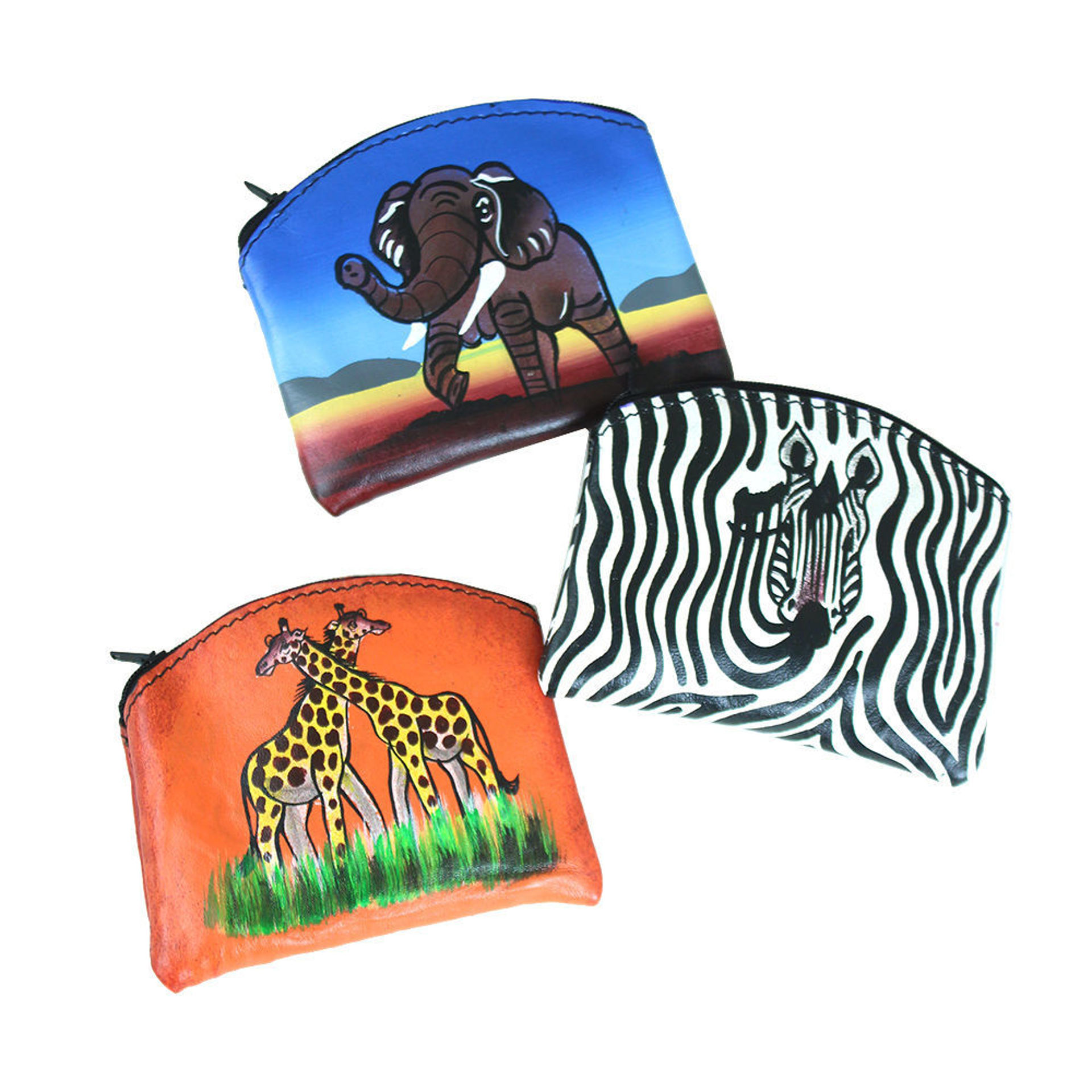 Picture of Kenyan Leather Coin Purse: ASSORTED