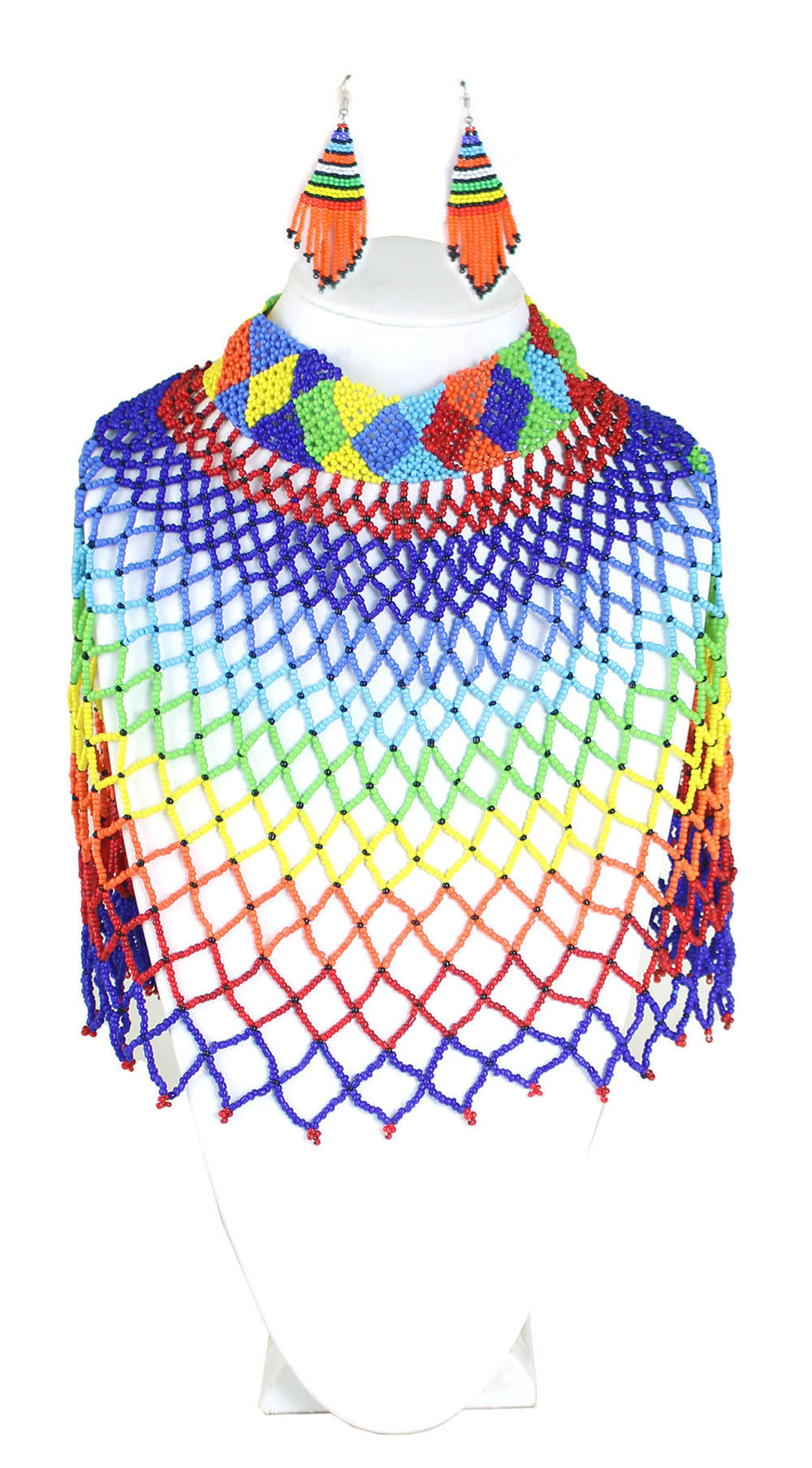 Picture of Kenyan Maasai Knitted Bead Necklace Set