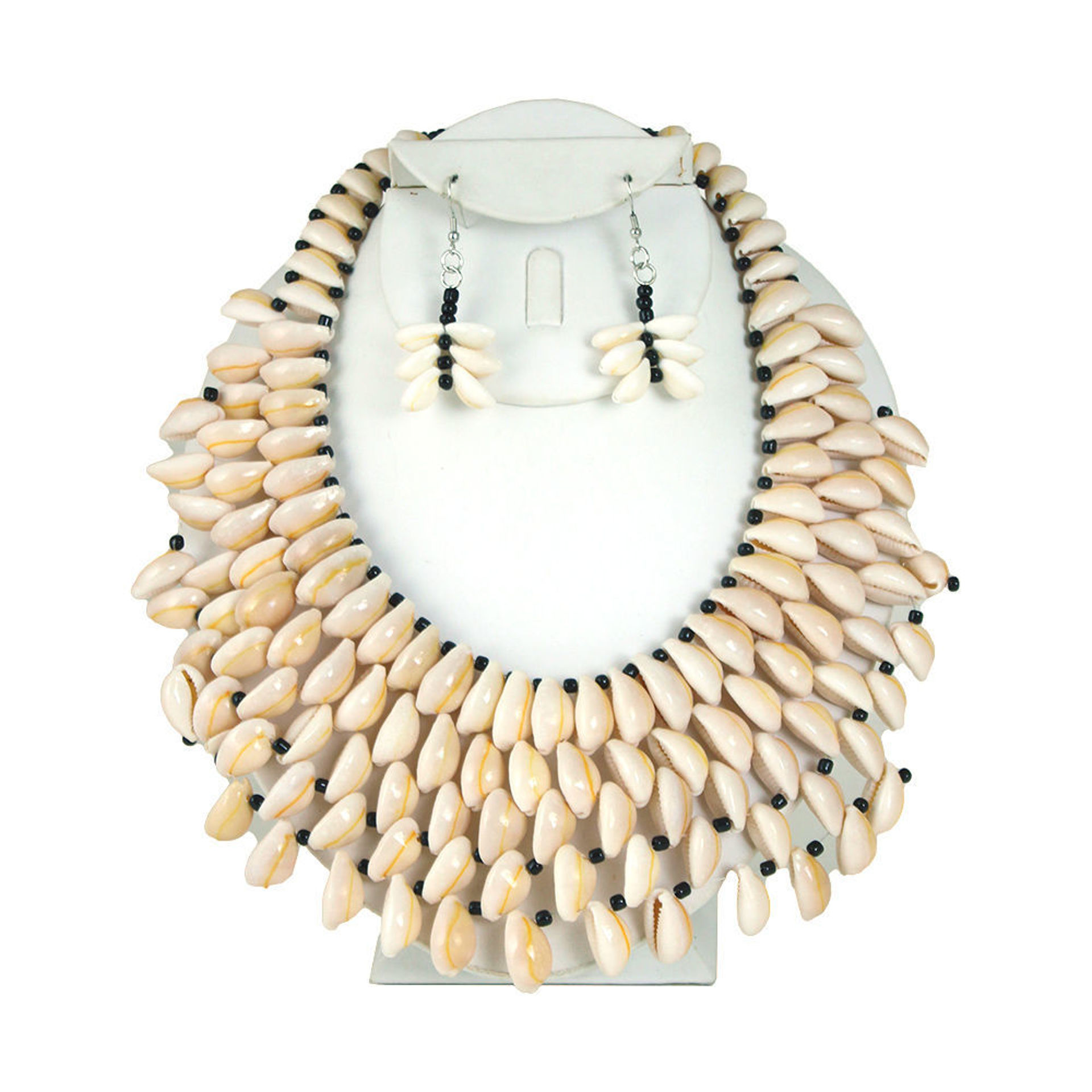 Picture of Cowrie Shell Necklace & Earrings Style-A