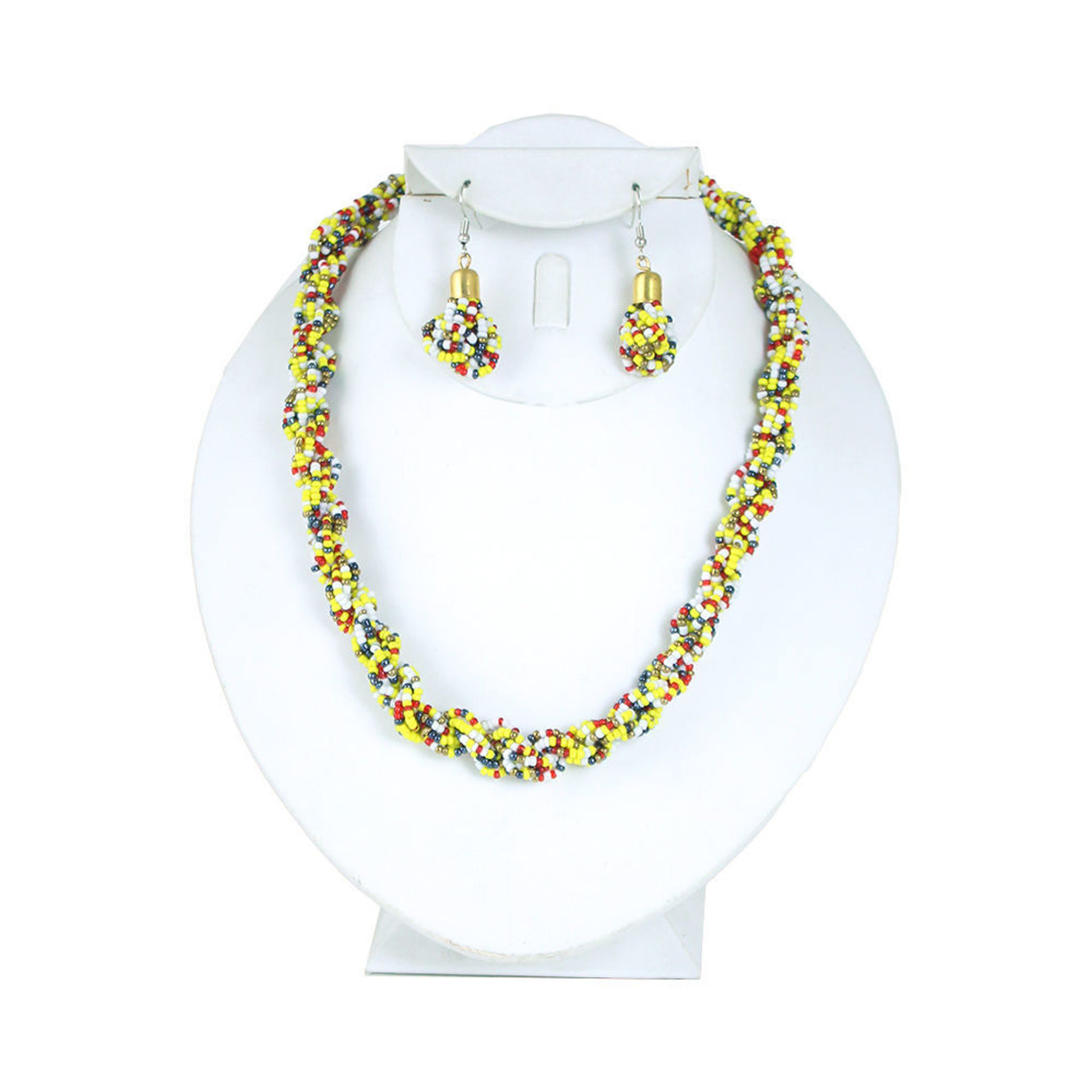 Picture of Kenyan Beaded Necklace & Earrings Set