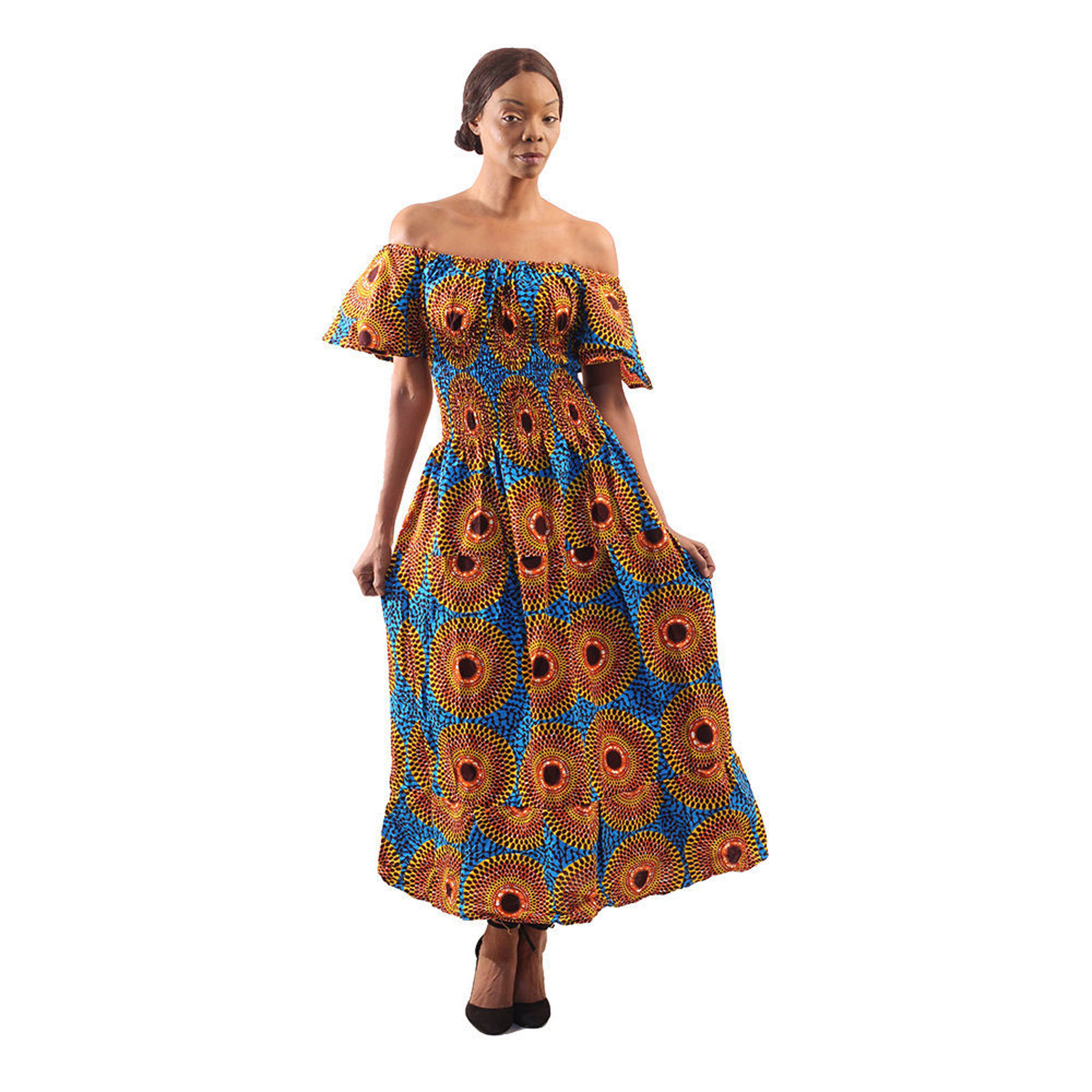 Picture of African Circle Print Princess Dress