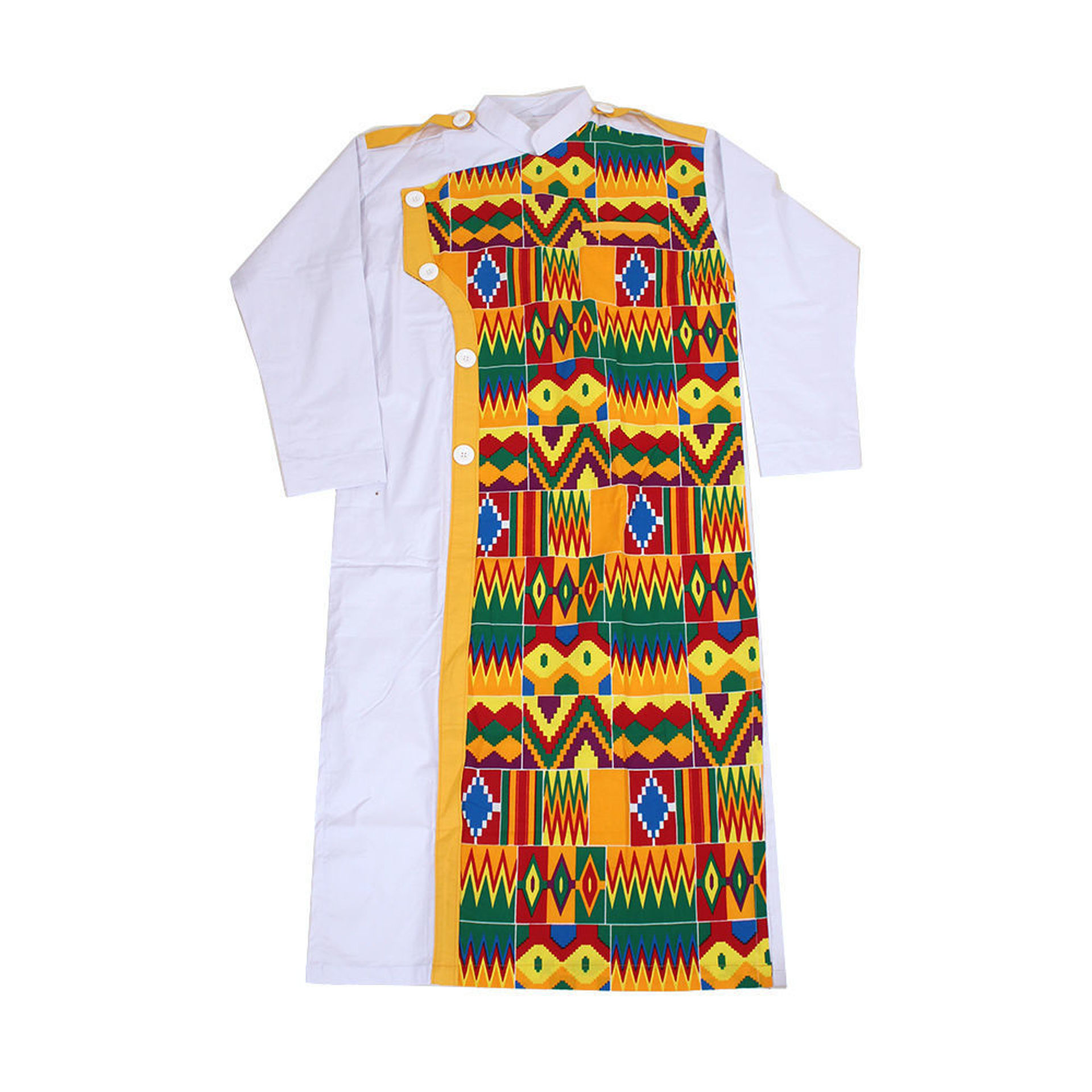 Picture of Men's White/Kente Formal Robe