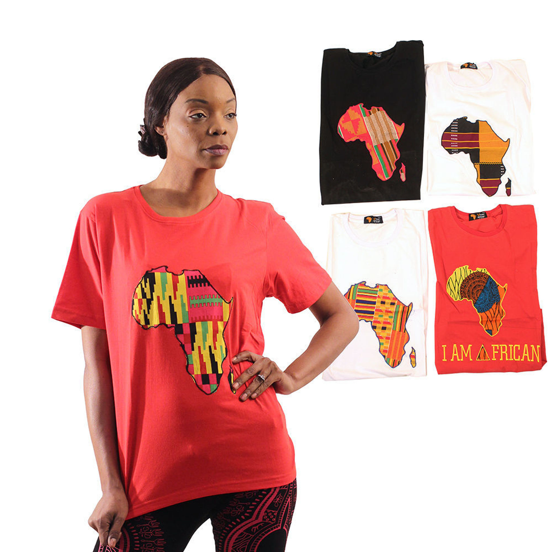 Picture of Set Of 5 Assorted Afrocentric T-Shirts